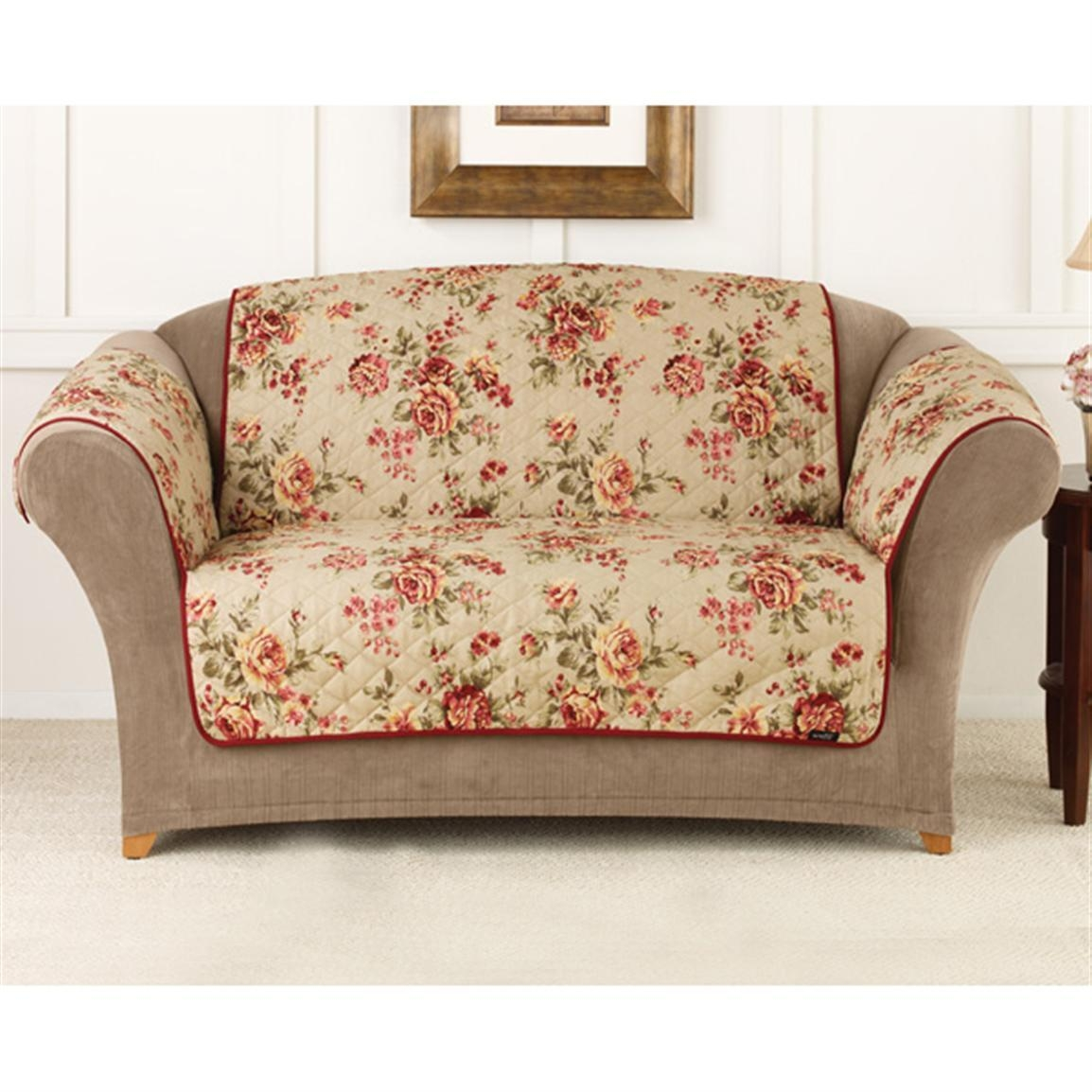 Floral Sofa Slipcovers With Design Image 28823 | Kengire Throughout Floral Sofa Slipcovers (View 5 of 20)
