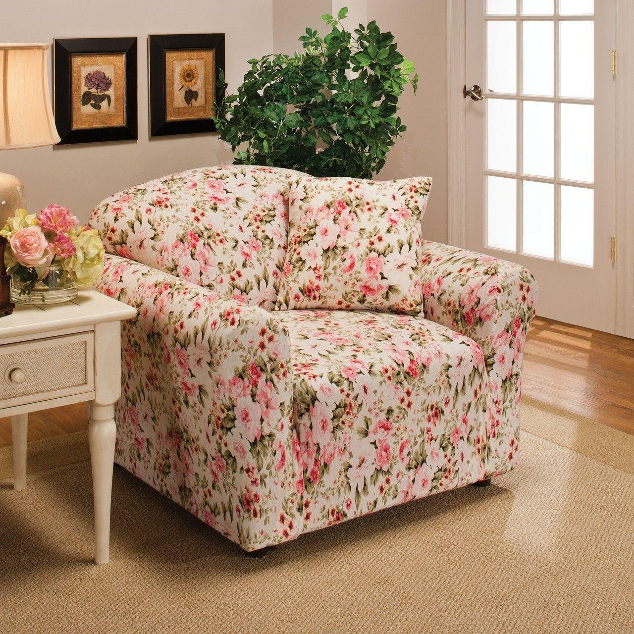 Floral Sofa Slipcovers With Inspiration Hd Images 28810 | Kengire Intended For Floral Slipcovers (View 6 of 20)