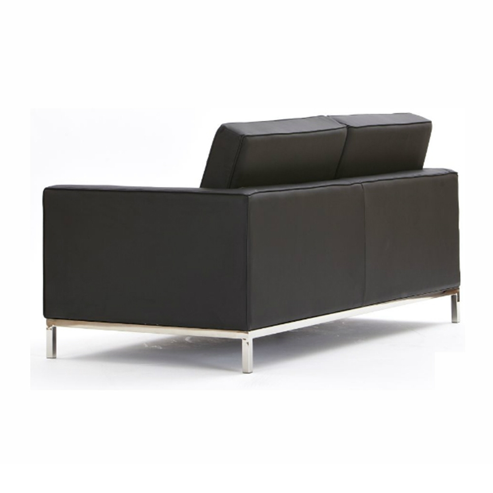 Florence Knoll 2 Seater Leather Sofa A Modern World Ltd (Image 3 of 20)