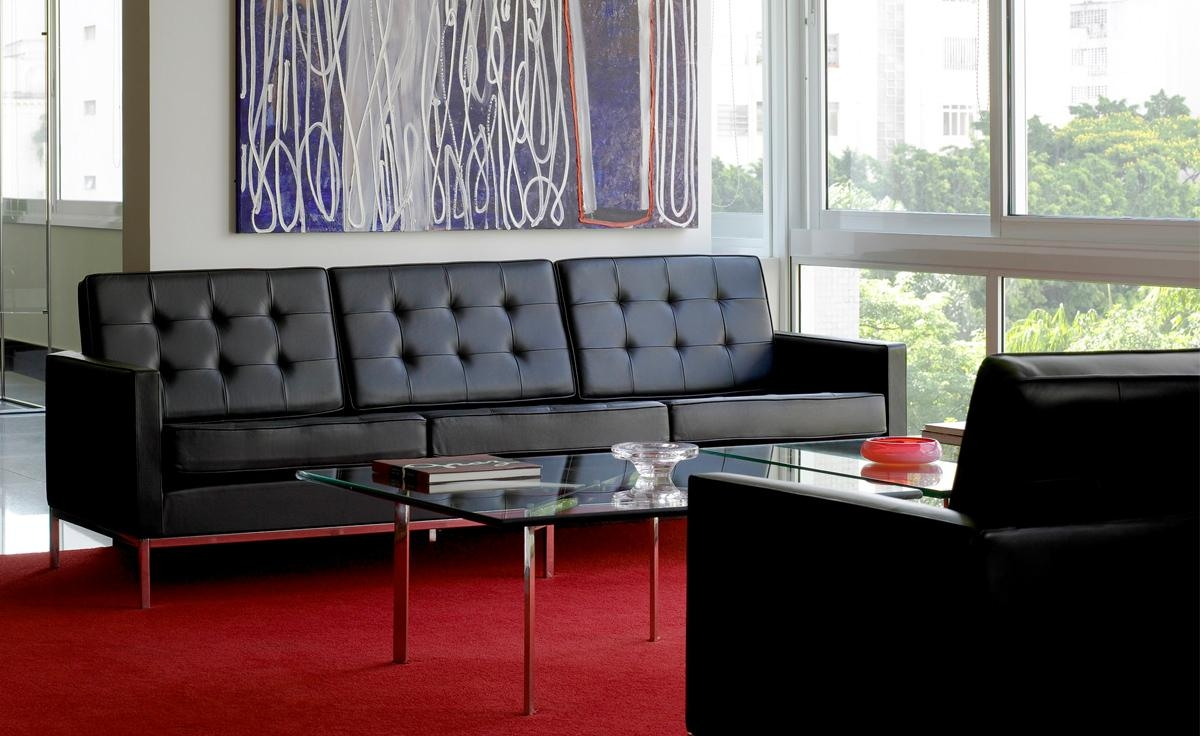Florence Knoll 3 Seat Sofa – Hivemodern For Florence Leather Sofas (Image 4 of 20)