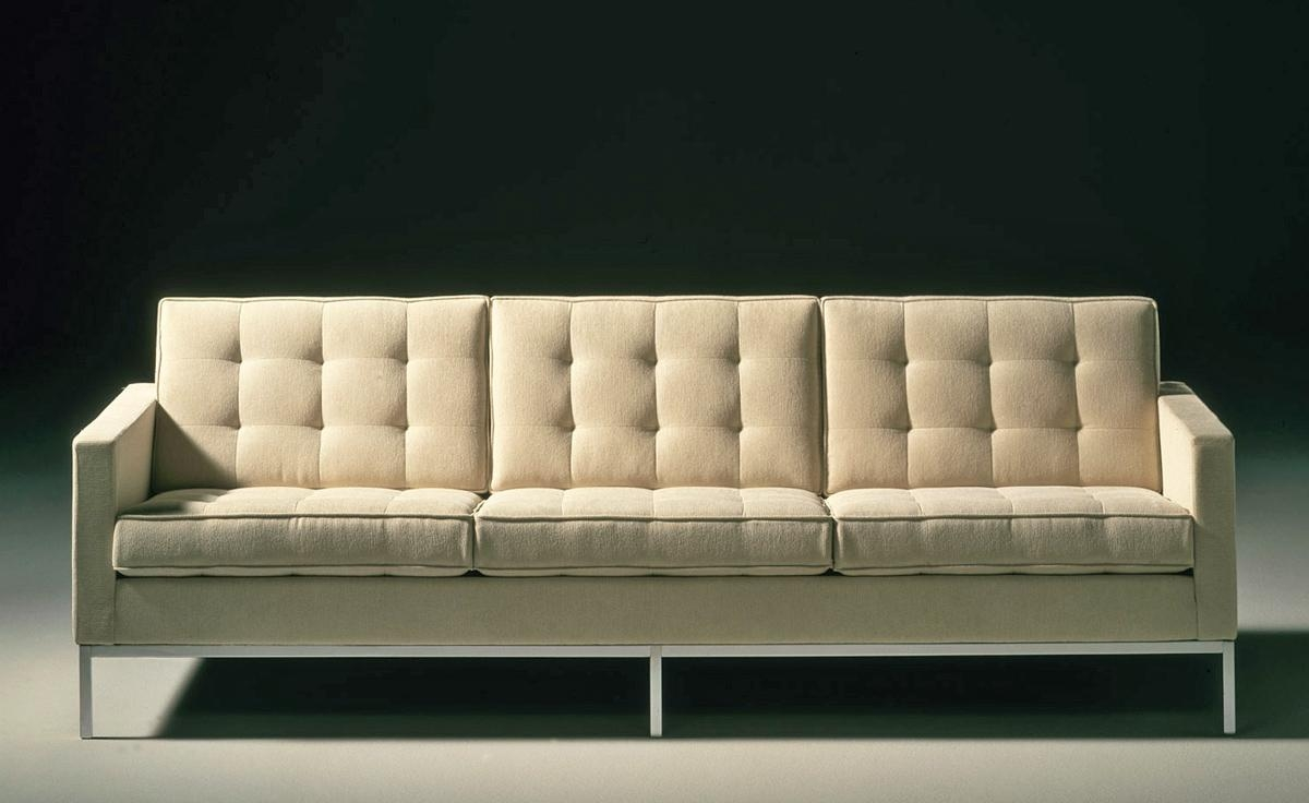 Florence Knoll 3 Seat Sofa – Hivemodern Intended For Florence Knoll Wood Legs Sofas (Image 6 of 20)