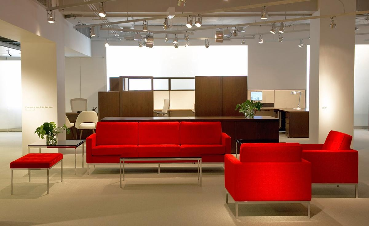 Florence Knoll 3 Seat Sofa – Hivemodern Pertaining To Florence Knoll Living Room Sofas (View 14 of 20)