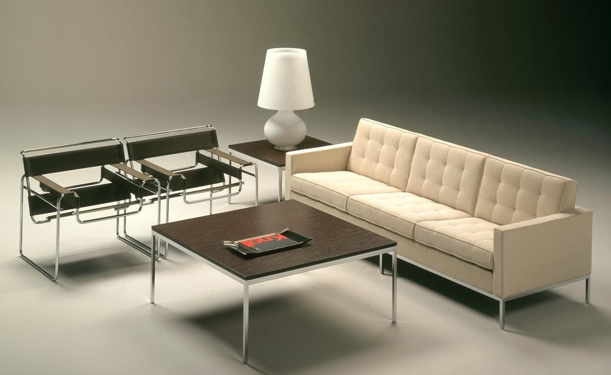 Florence Knoll 3 Seat Sofa – Hivemodern With Florence Knoll Wood Legs Sofas (Image 8 of 20)