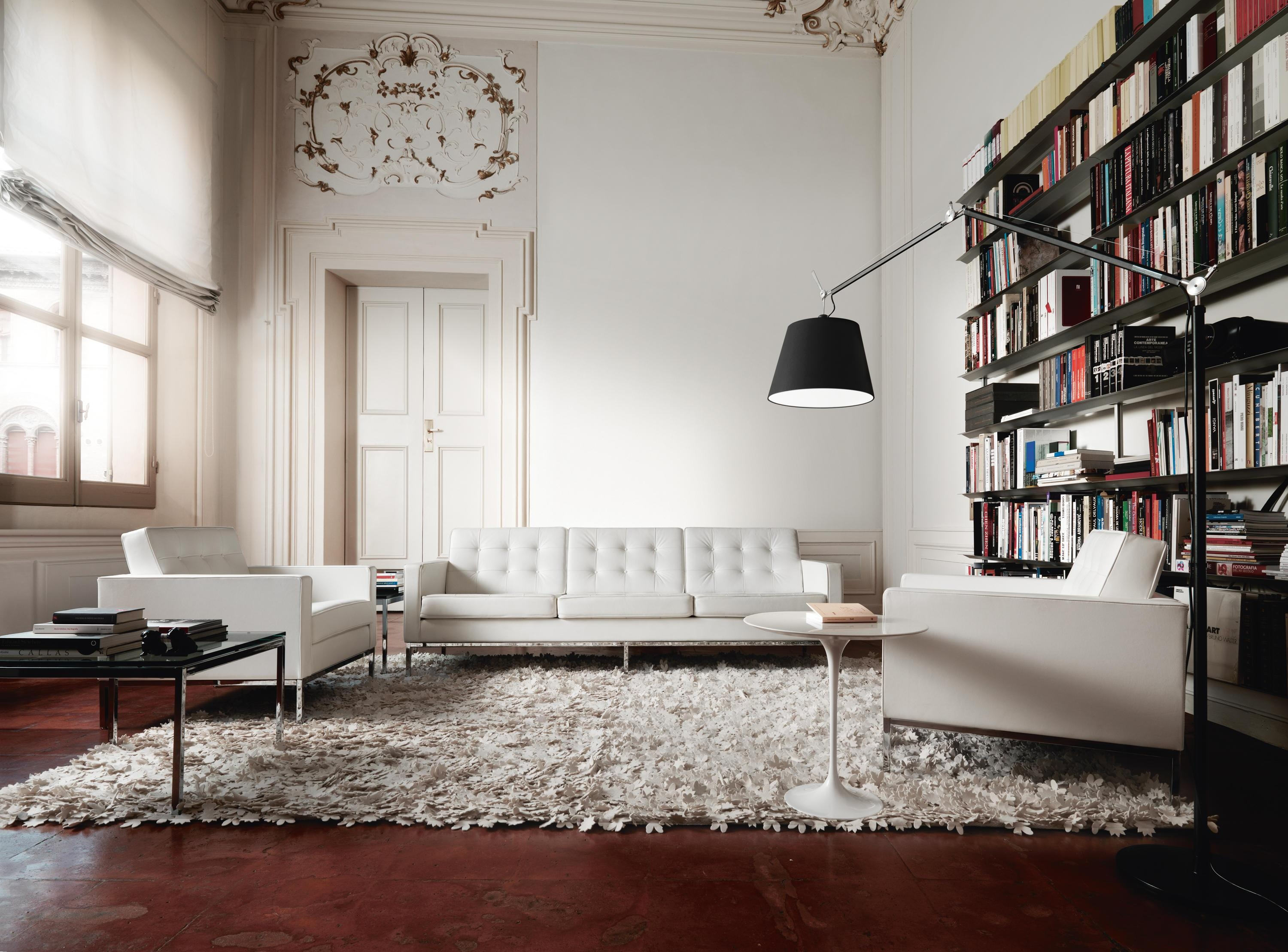 Florence Knoll Lounge 3 Seat Sofa – Lounge Sofas From Knoll Pertaining To Florence Knoll Wood Legs Sofas (Image 9 of 20)