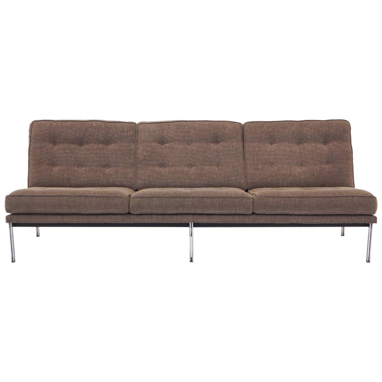 Florence Knoll Parallel Bar Three Seat Armless Sofa At 1Stdibs Pertaining To Florence Grand Sofas (Image 7 of 20)