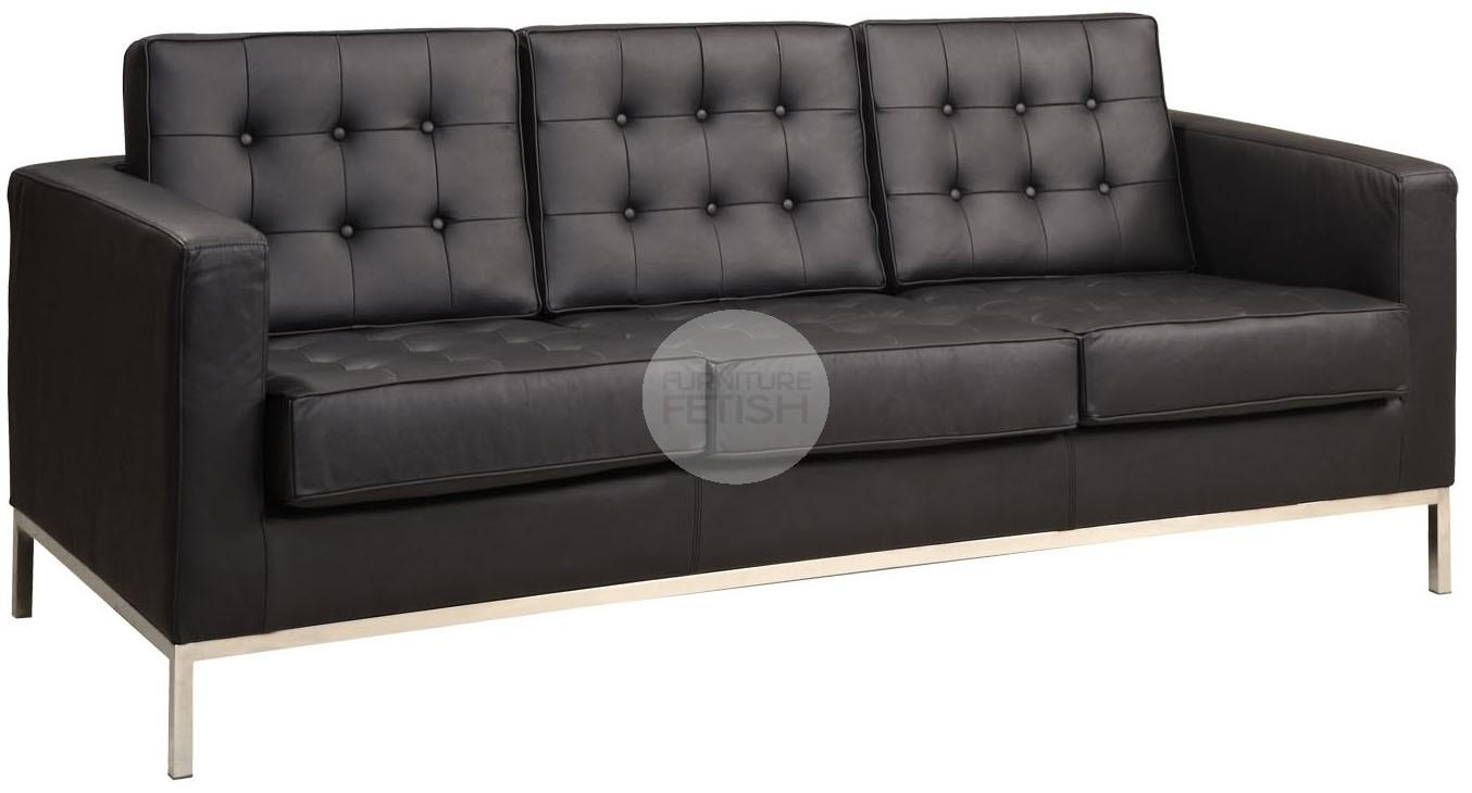 Florence Knoll Replica 3 Seater Sofa – Black Furniture Fetish Gold Intended For Florence Knoll 3 Seater Sofas (View 7 of 20)