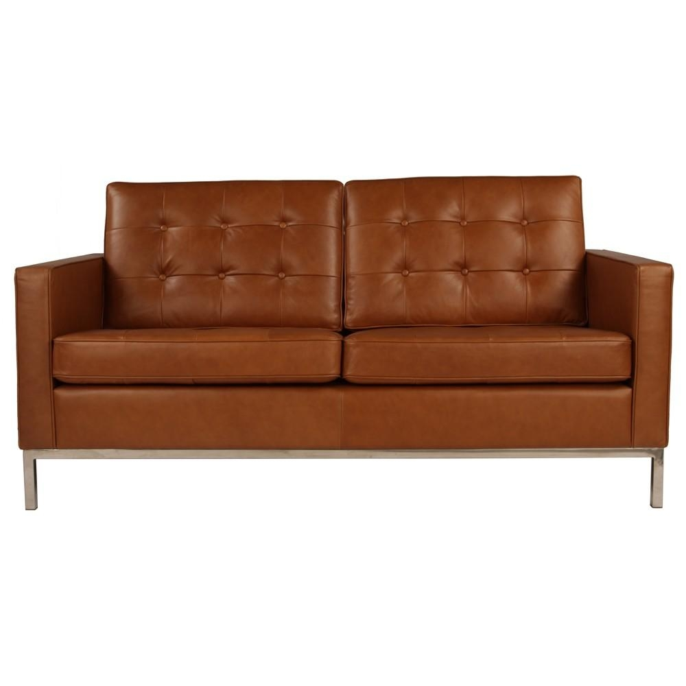 Florence Knoll Sofa 2 Seater Sofa Replica In Leather Commercial With Florence Knoll Leather Sofas (Image 6 of 20)