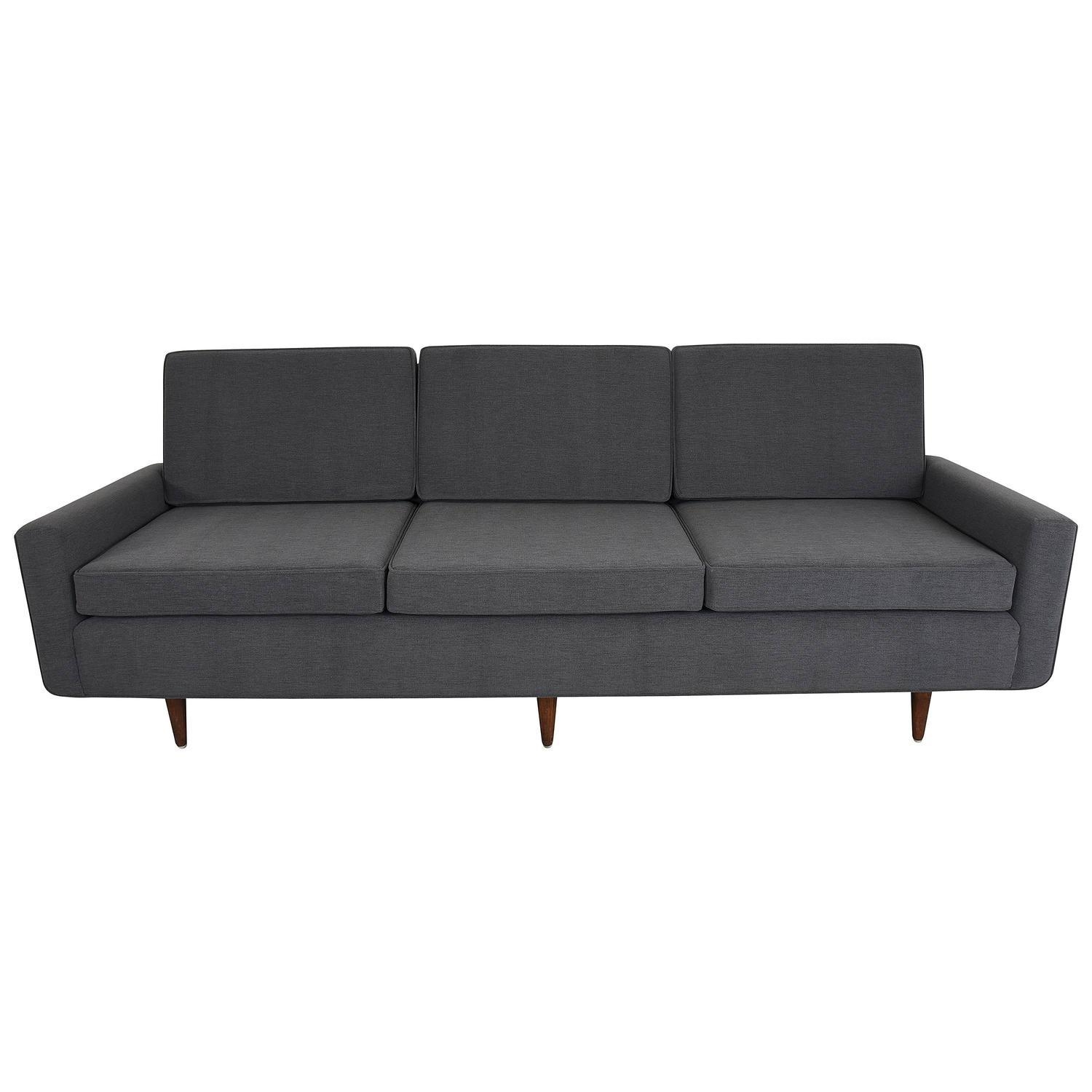 Florence Knoll Sofa Three Seat Sofa, Model 26, Pair Available For Pertaining To Knoll Sofas (Image 11 of 20)