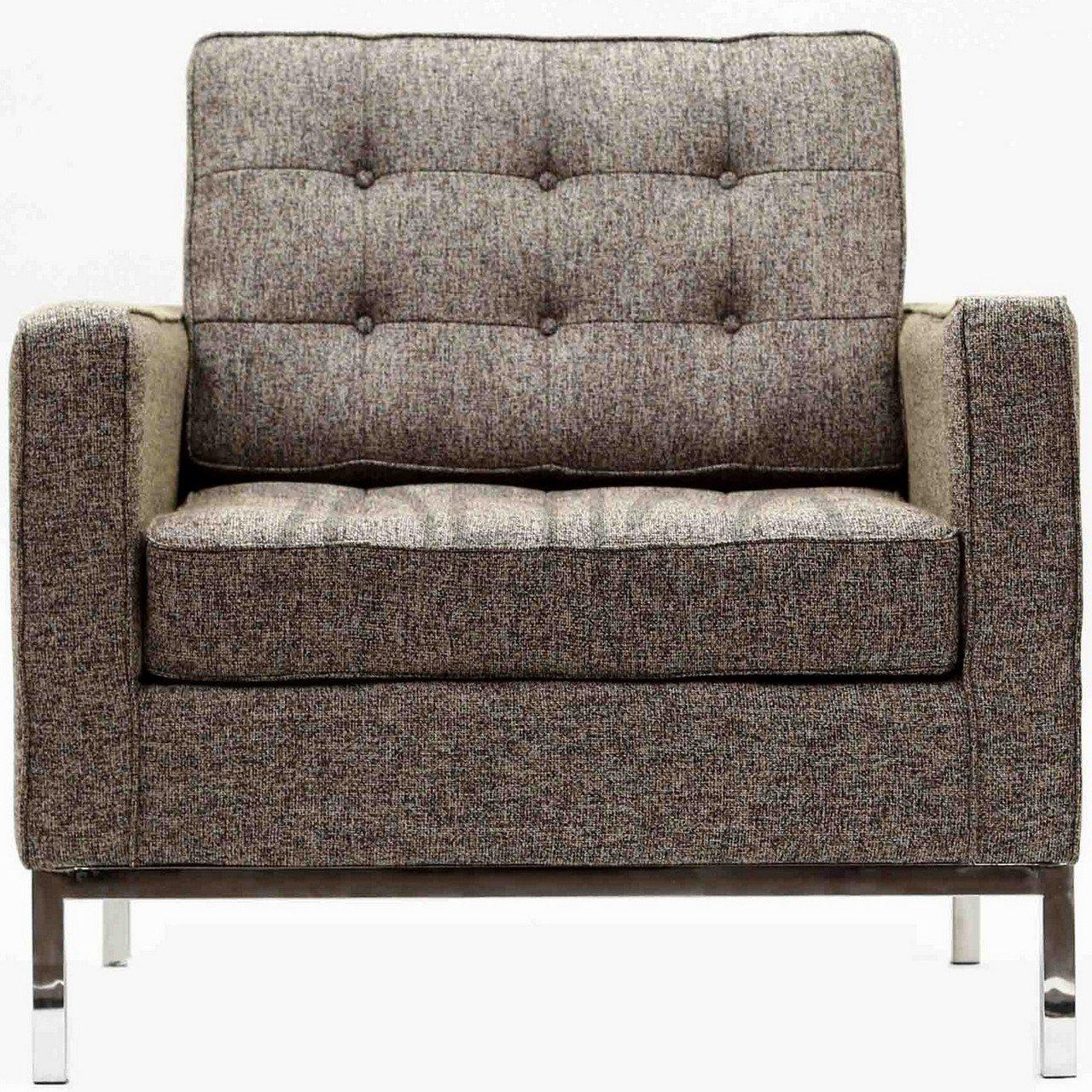 Florence Knoll Style Armchair In Fabric – (Multiple Colors Intended For Florence Knoll Style Sofas (View 14 of 20)