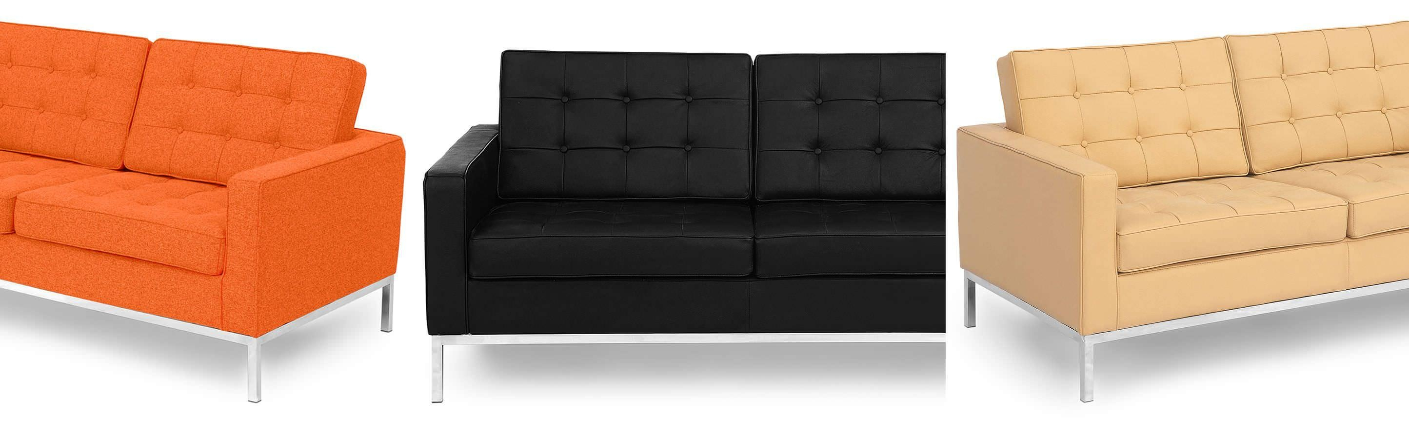 Florence Knoll Style Loveseat 2 Seater Small Sofa Mid Century Modern For Florence Sofas And Loveseats (View 4 of 20)