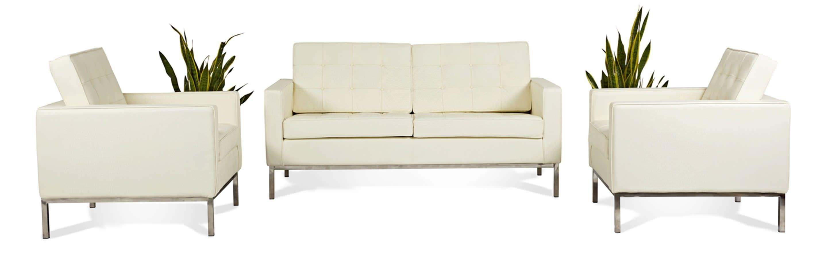 Florence Knoll Style Loveseat 2 Seater Small Sofa Mid Century Modern With Regard To Florence Sofas And Loveseats (View 5 of 20)