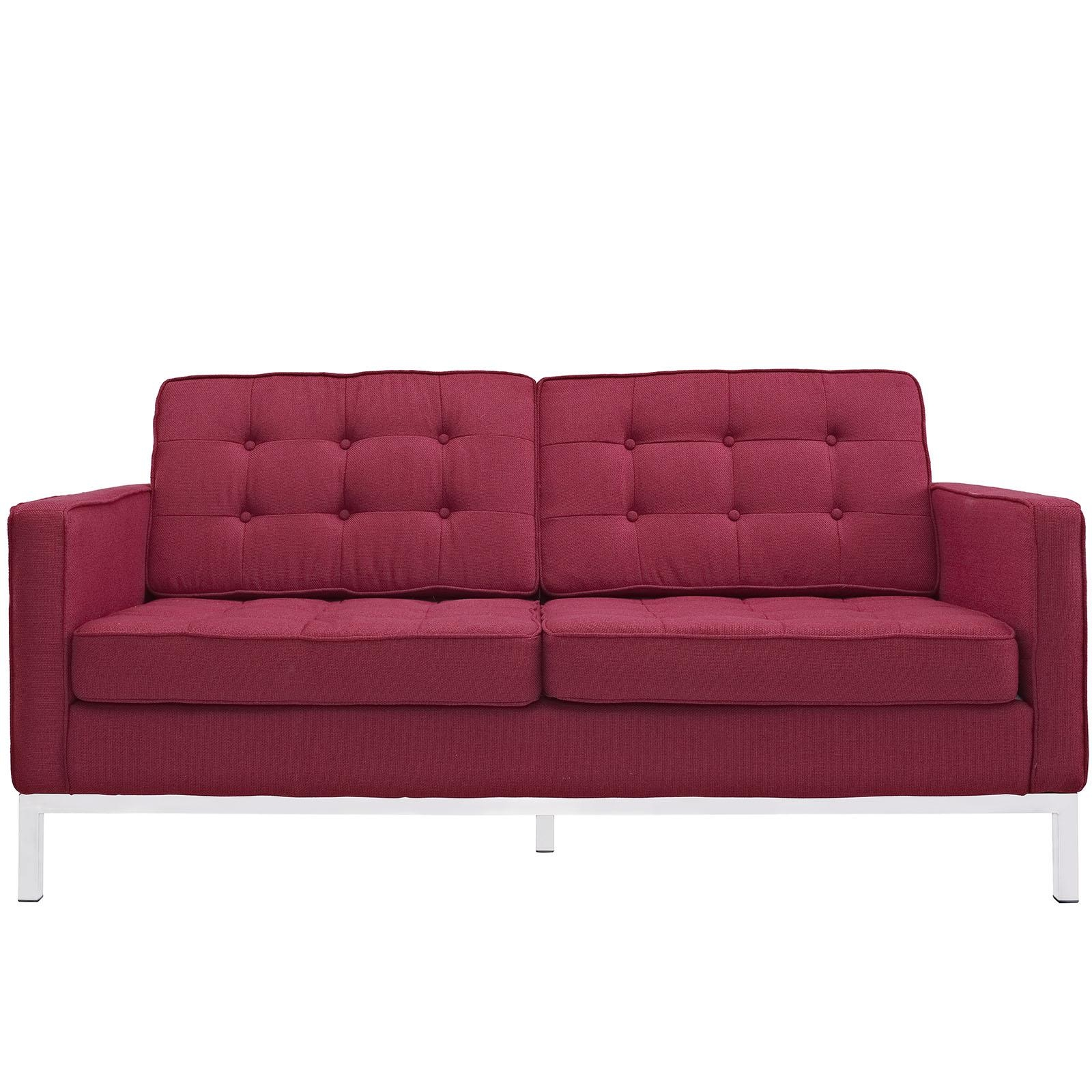 Florence Knoll Style Loveseat Couch – Wool With Regard To Florence Sofas And Loveseats (View 11 of 20)