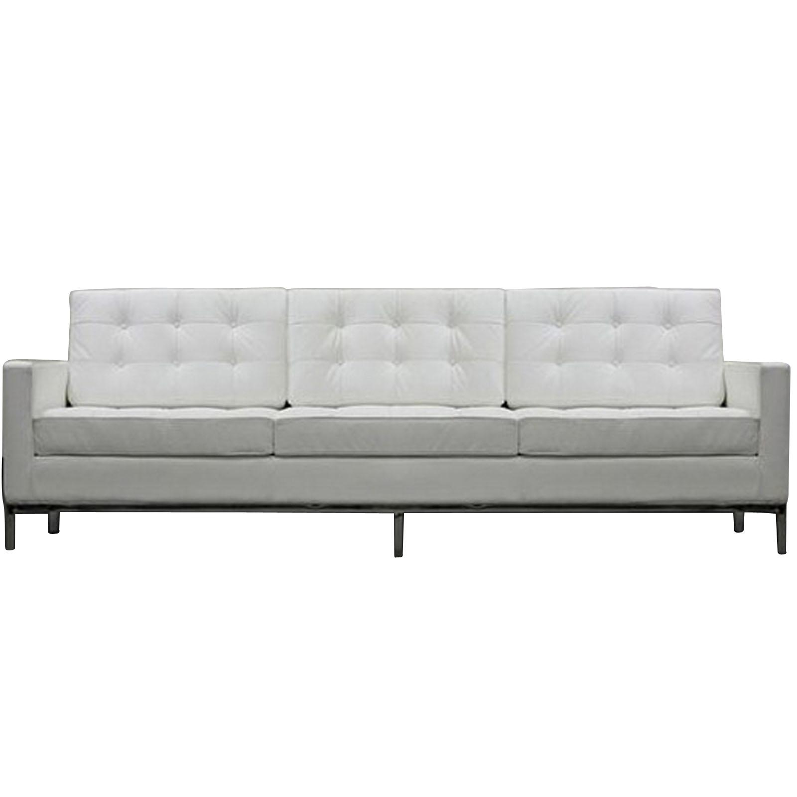Florence Knoll Style Sofa Couch – Leather Pertaining To Florence Medium Sofas (View 9 of 20)