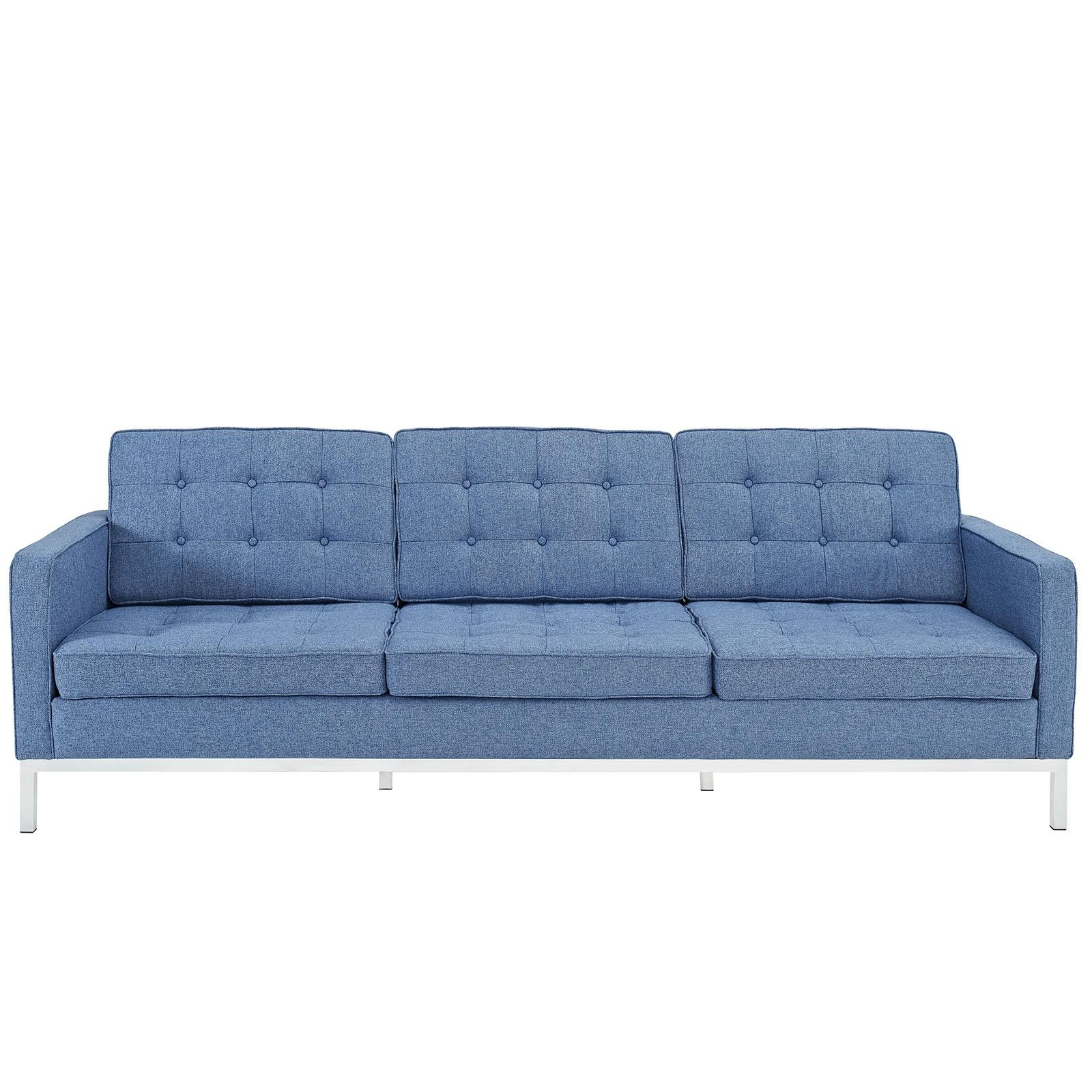 Florence Knoll Style Sofa Couch – Wool Regarding Florence Knoll Style Sofas (View 19 of 20)
