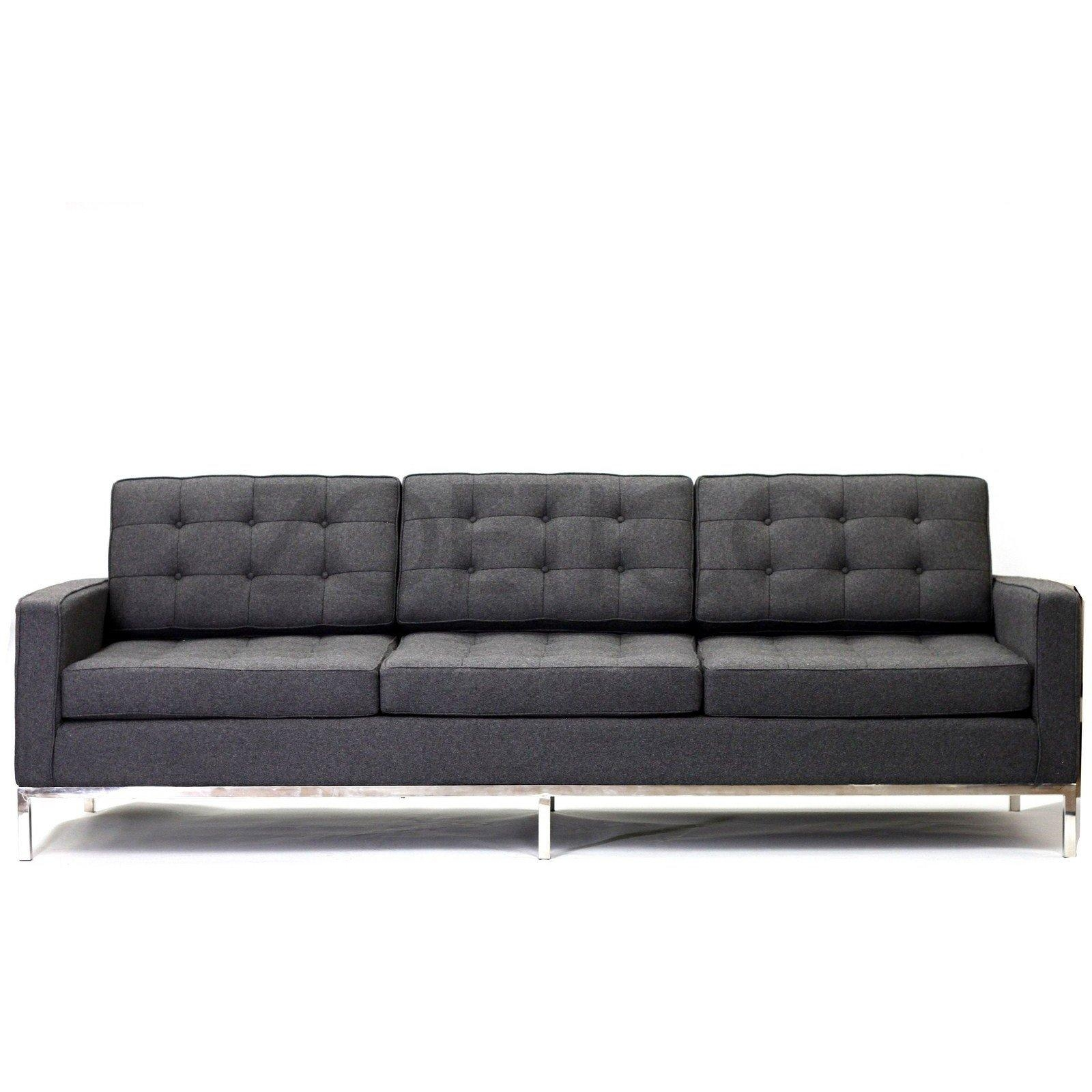 Florence Knoll Style Sofa In Fabric – (Multiple Colors/materials For Florence Grand Sofas (Image 8 of 20)