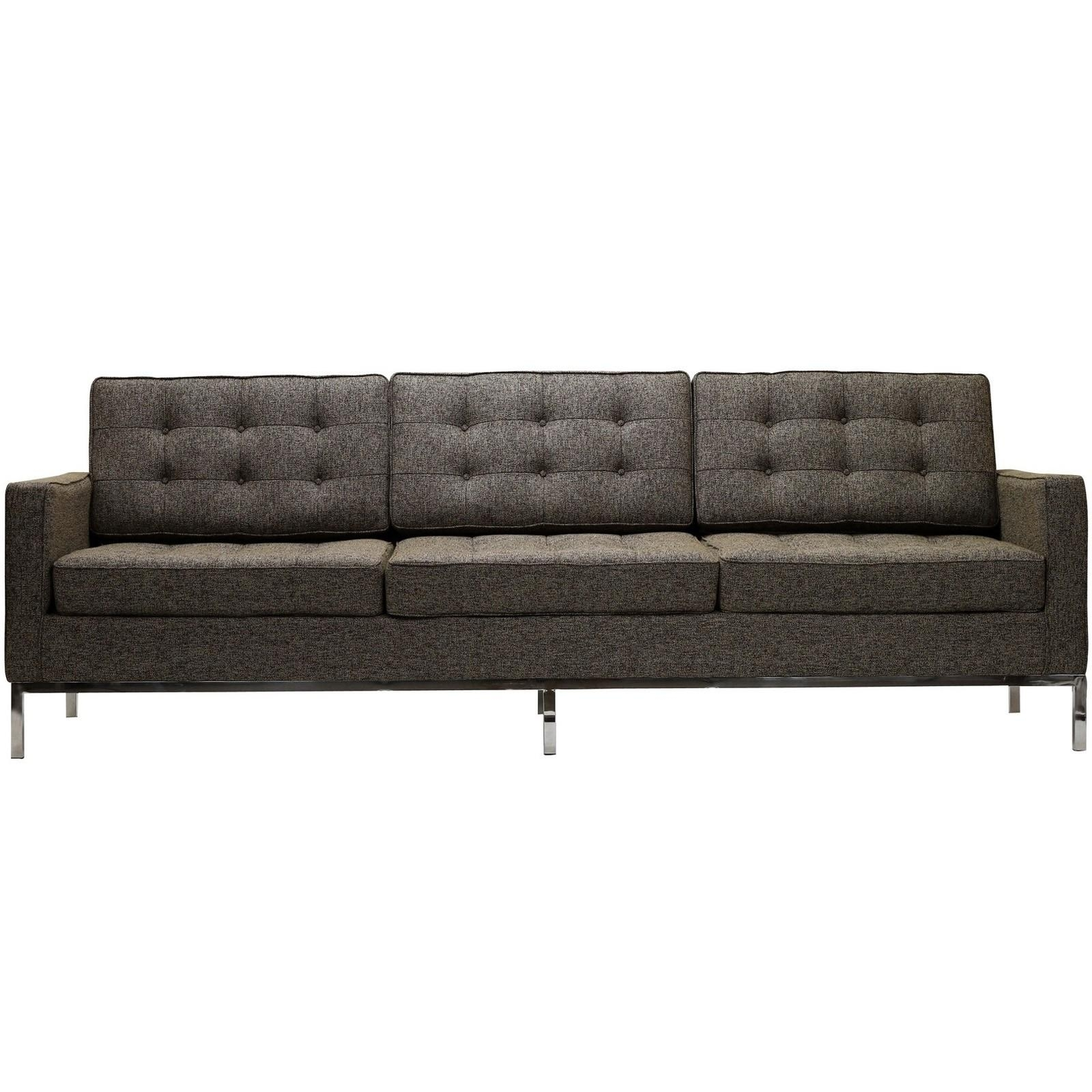 Florence Knoll Style Sofa In Fabric – (Multiple Colors/materials In Florence Grand Sofas (Image 9 of 20)