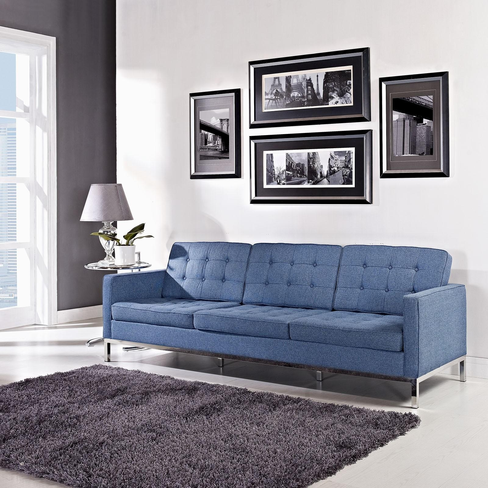Florence Knoll Style Sofa In Fabric – (Multiple Colors/materials In Florence Knoll Living Room Sofas (View 17 of 20)