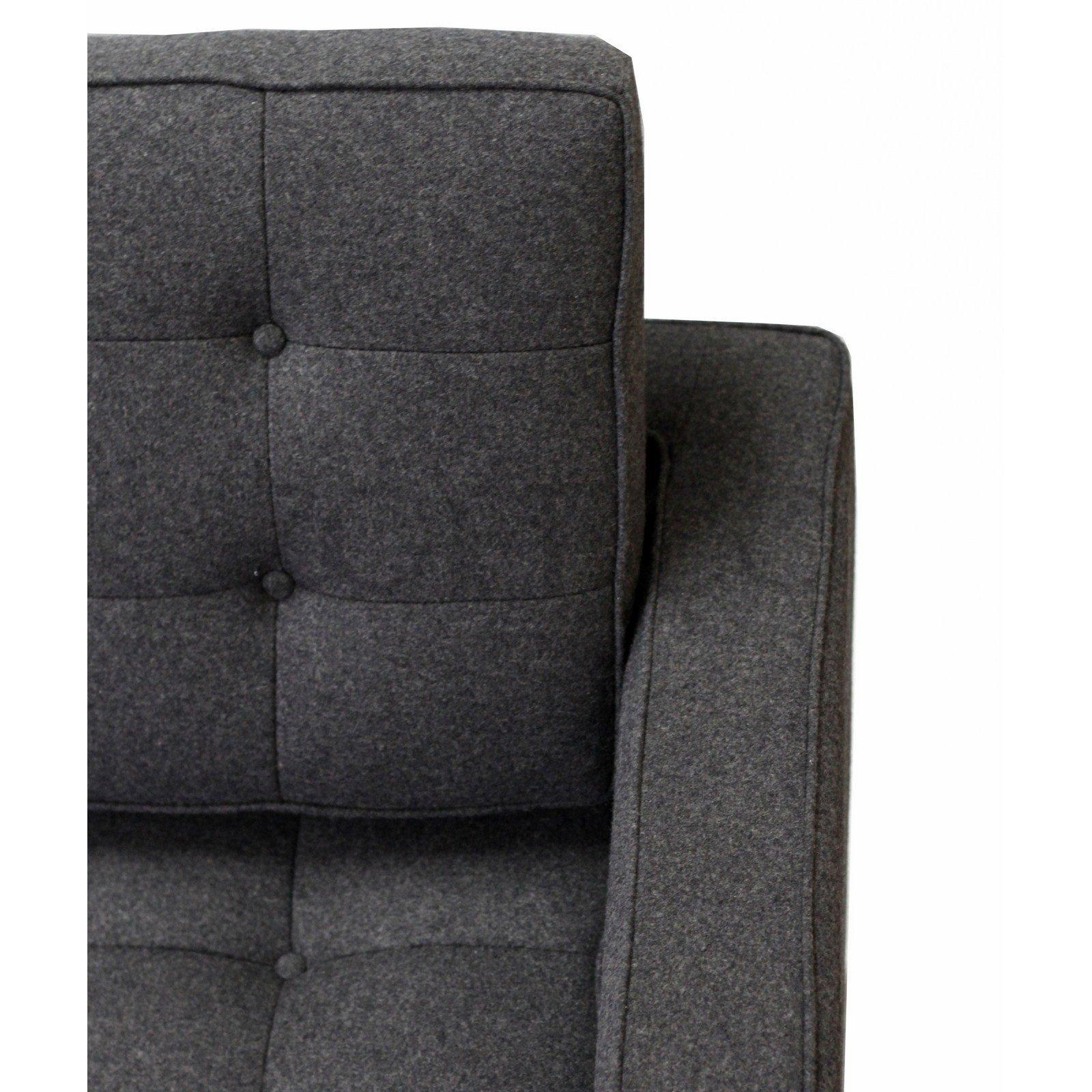 Florence Knoll Style Sofa In Fabric – (Multiple Colors/materials Inside Florence Grand Sofas (Image 10 of 20)