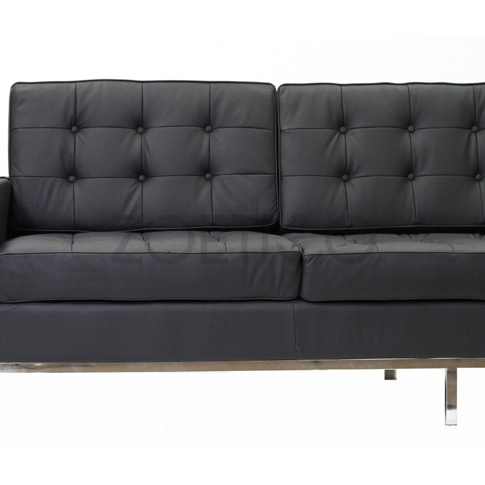 Florence Knoll Style Sofa In Leather (Multiple Colors/materials In Florence Grand Sofas (Image 13 of 20)