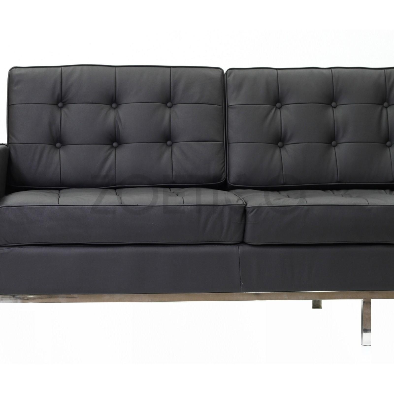 Florence Knoll Style Sofa In Leather (Multiple Colors/materials In Florence Knoll Leather Sofas (Image 13 of 20)