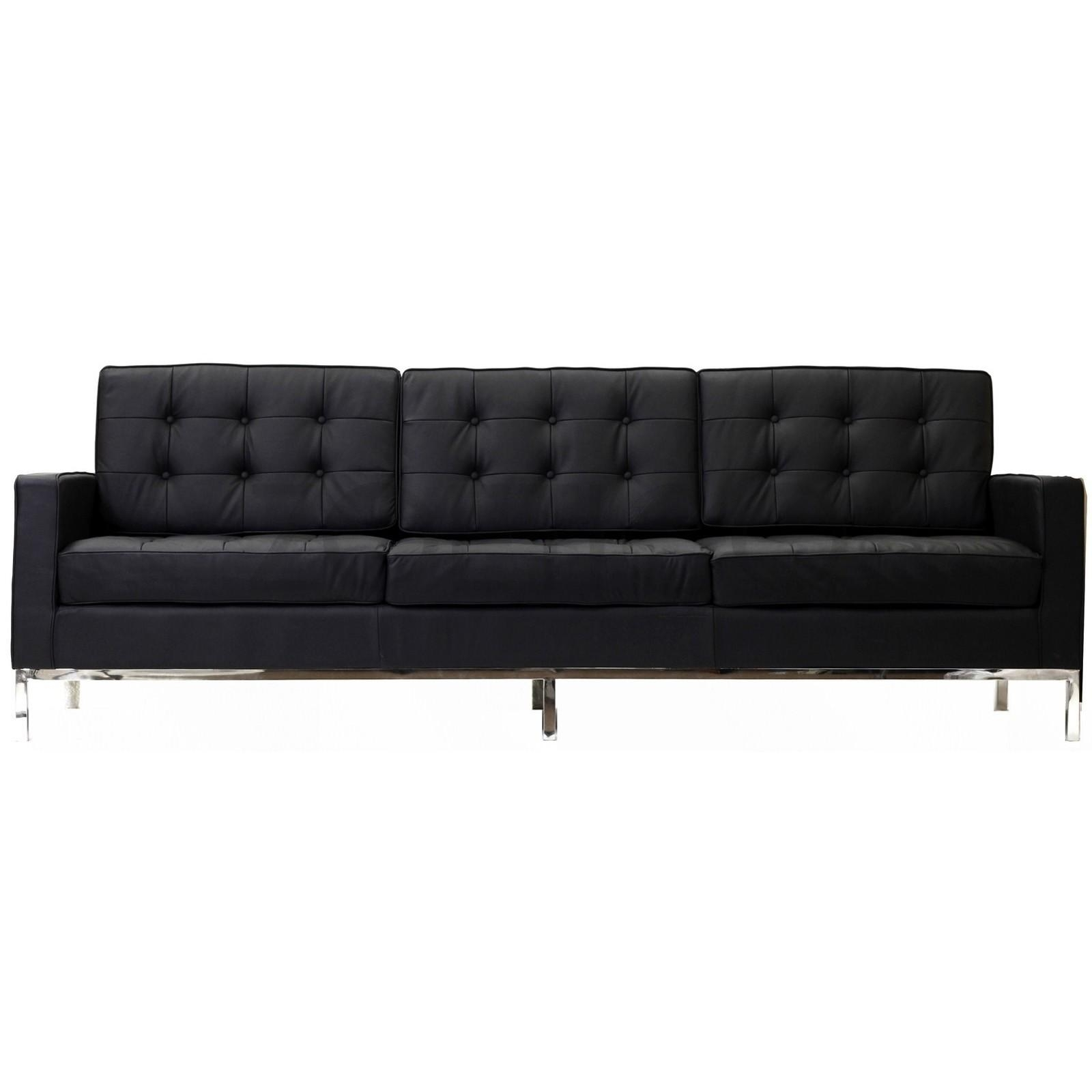 Florence Knoll Style Sofa In Leather (Multiple Colors/materials Intended For Florence Leather Sofas (Image 10 of 20)