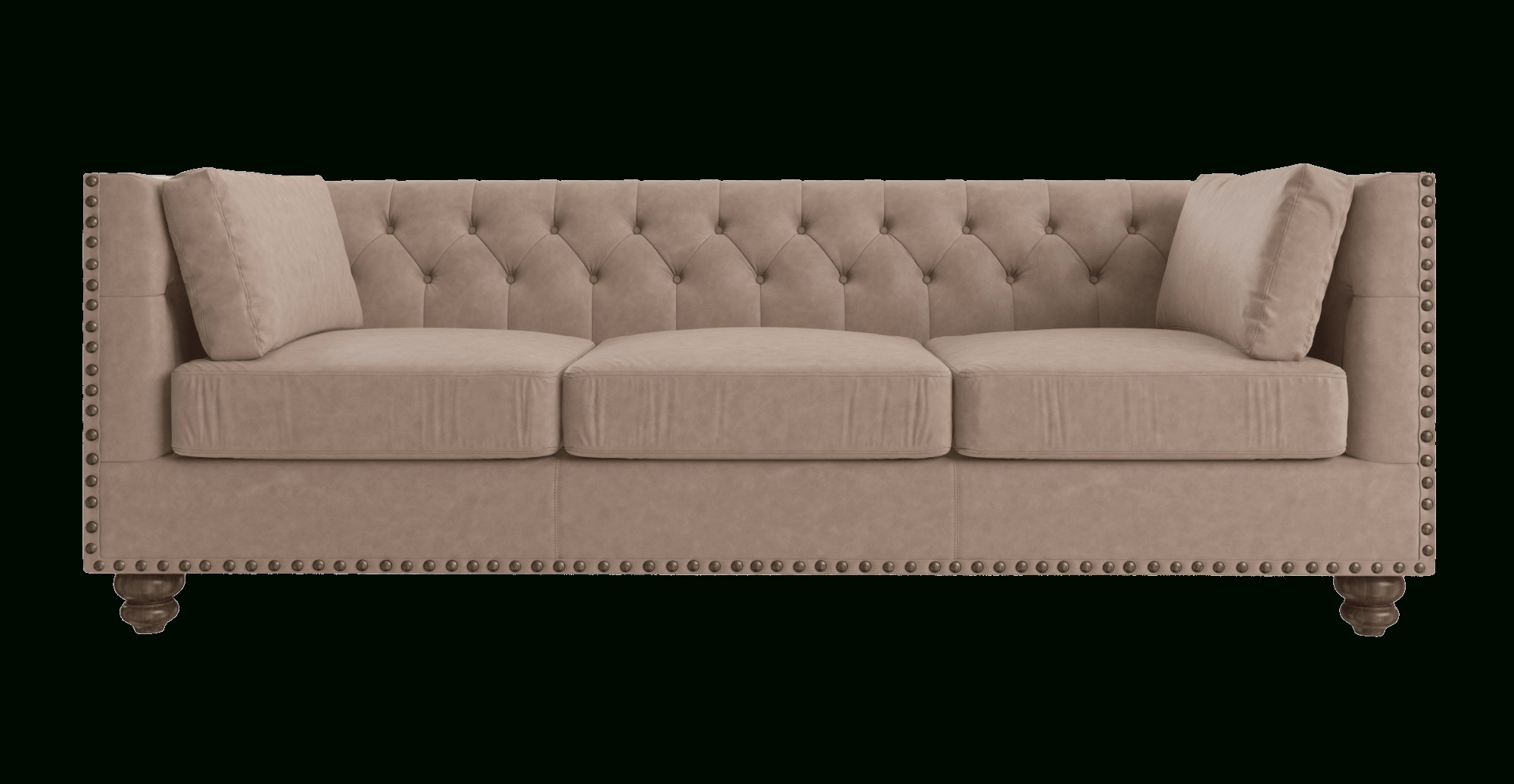 Florence Leather 3 Seater Sofa In Three Seater Sofas (Image 10 of 20)
