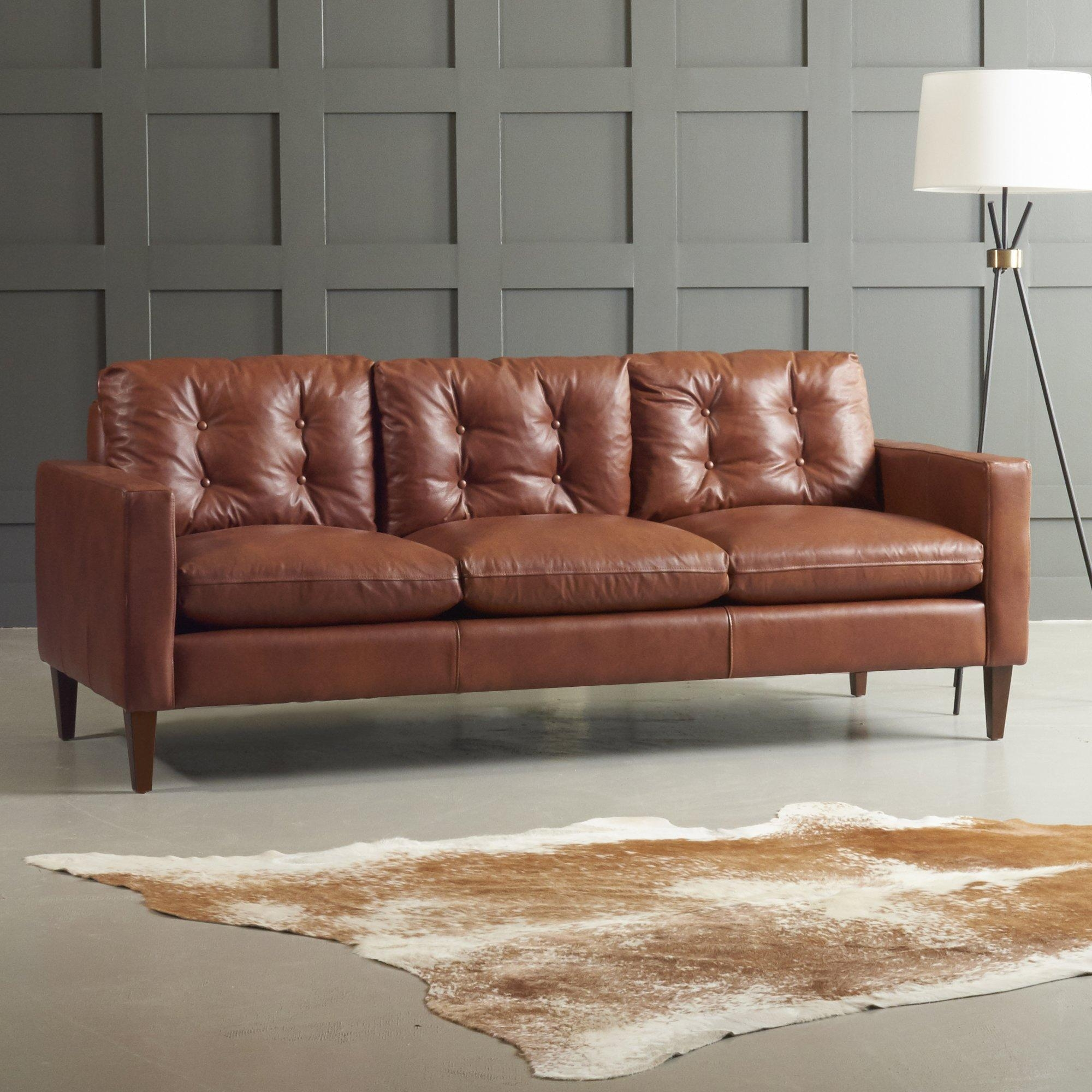 Florence Leather Sofa ~ Instasofas With Florence Leather Sofas (Image 12 of 20)