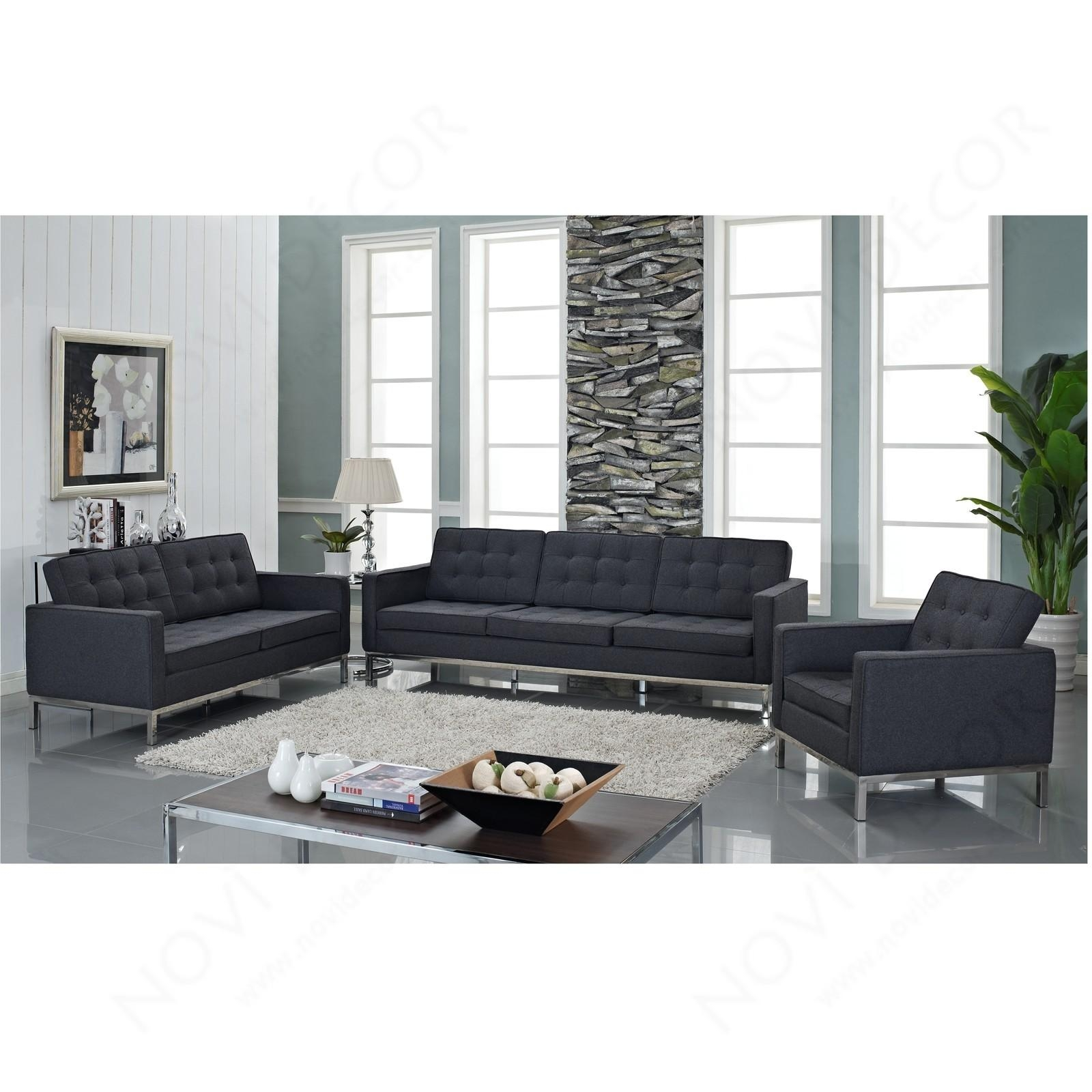 Florence Style Loveseat In Wool (Multiple Colors) | Designer With Regard To Florence Sofas And Loveseats (View 3 of 20)