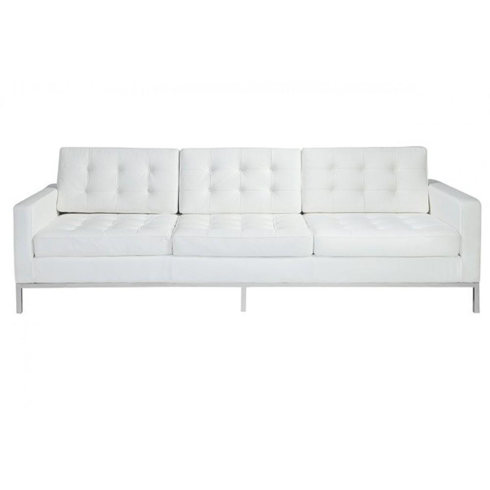 Florence Style Sofa In Black, White And White Leather – Home And Regarding Florence Leather Sofas (Image 14 of 20)