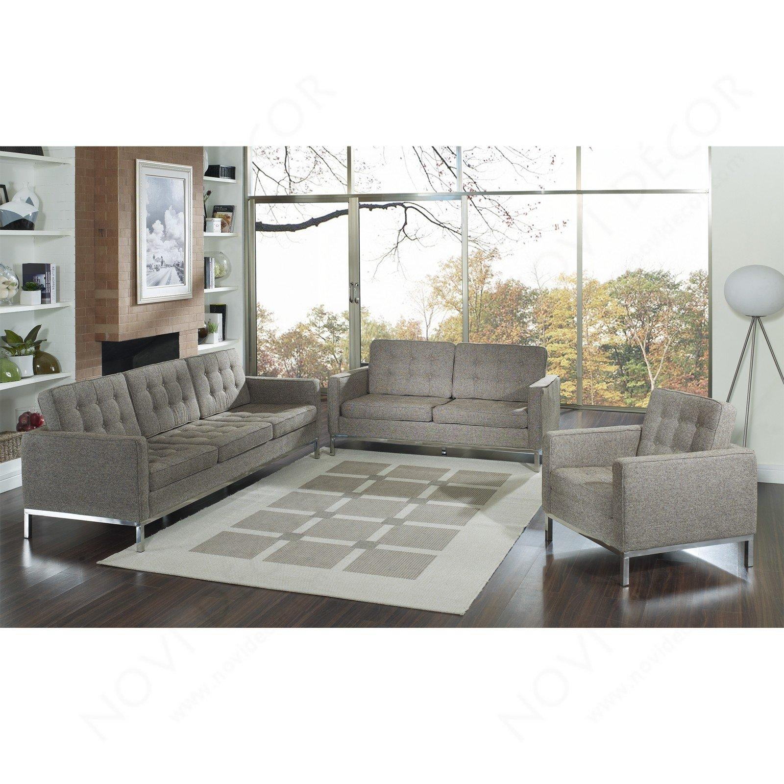 Florence Style Sofa In Wool (Multiple Colors) | Designer Reproduction Within Florence Sofa Beds (Image 9 of 20)
