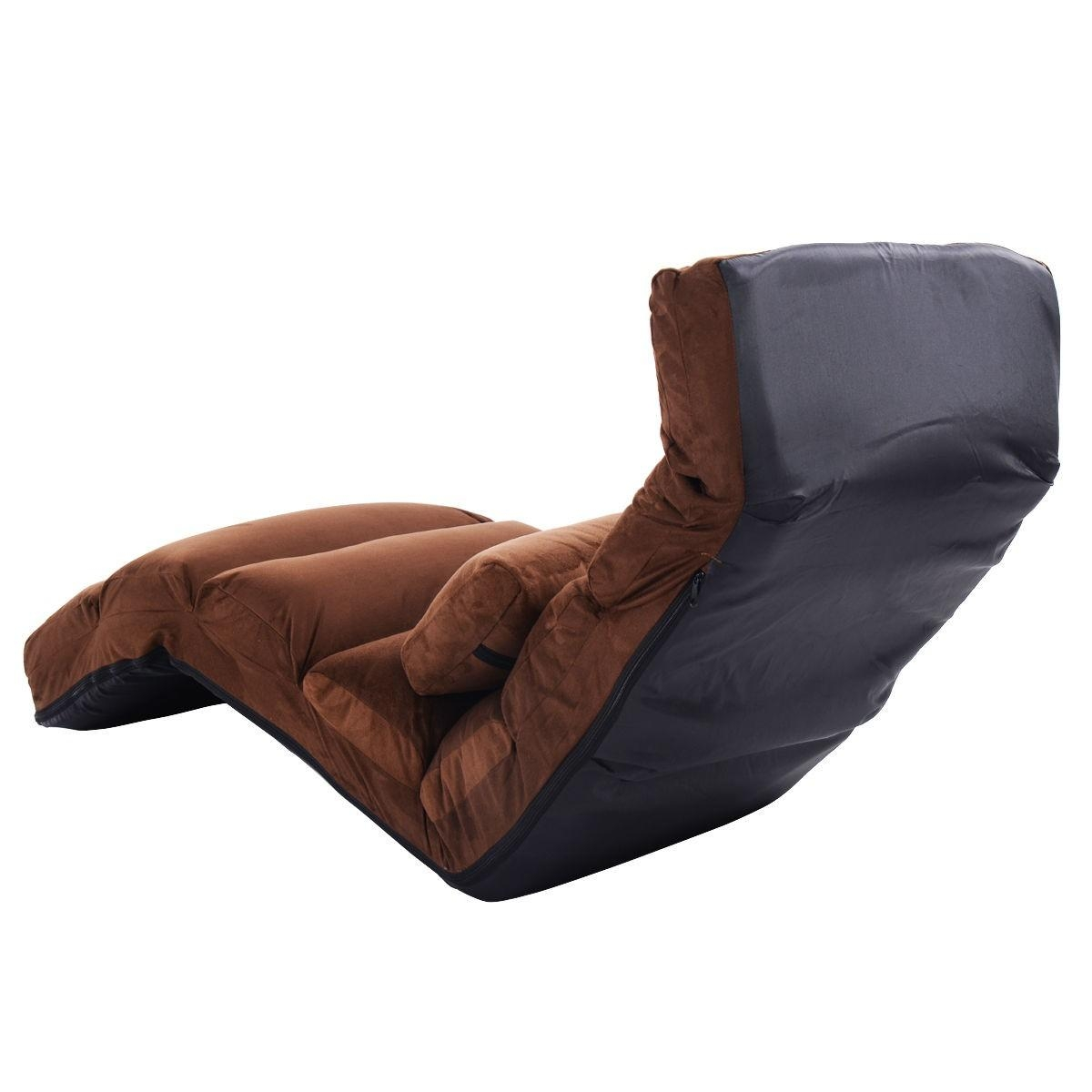 Folding Lazy Sofa Couch With Pillow – Floor Chairs – Chairs Intended For Lazy Sofa Chairs (Image 8 of 20)