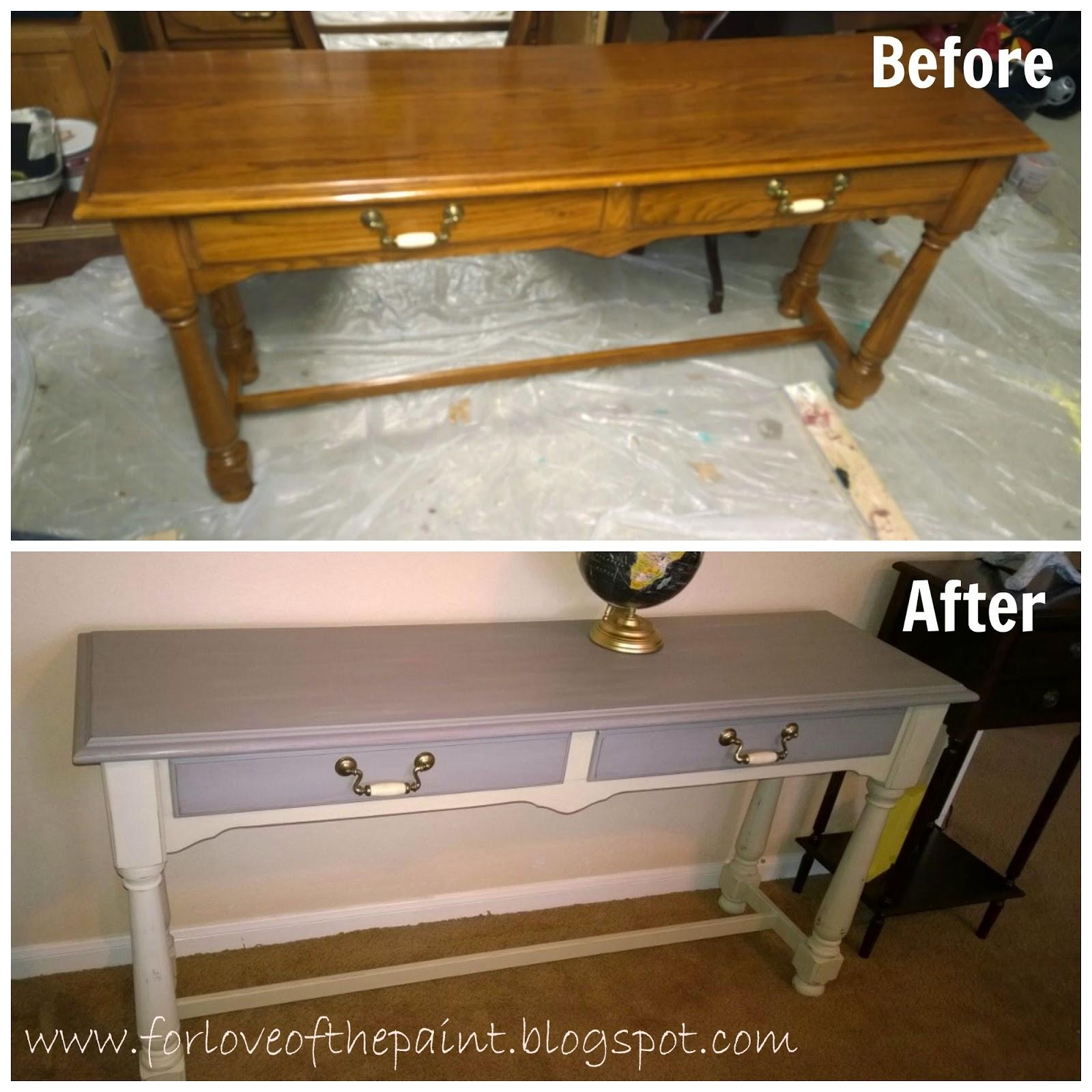 For Love Of The Paint: Before And After : Thomasville Sofa Table With Country Sofa Tables (Image 12 of 20)