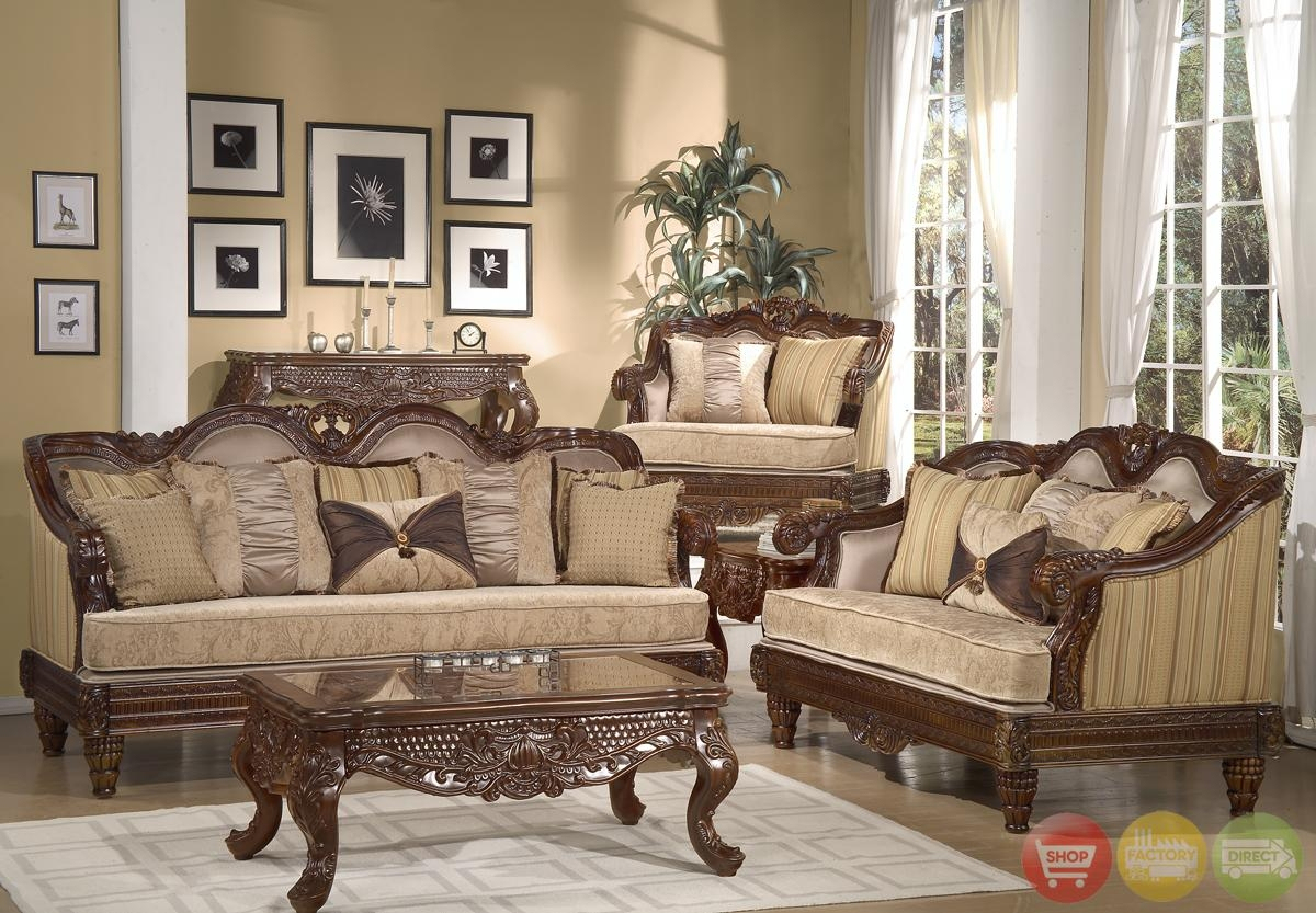 Formal Living Room Sets Intended For Traditional Sofas And Chairs (Image 4 of 20)
