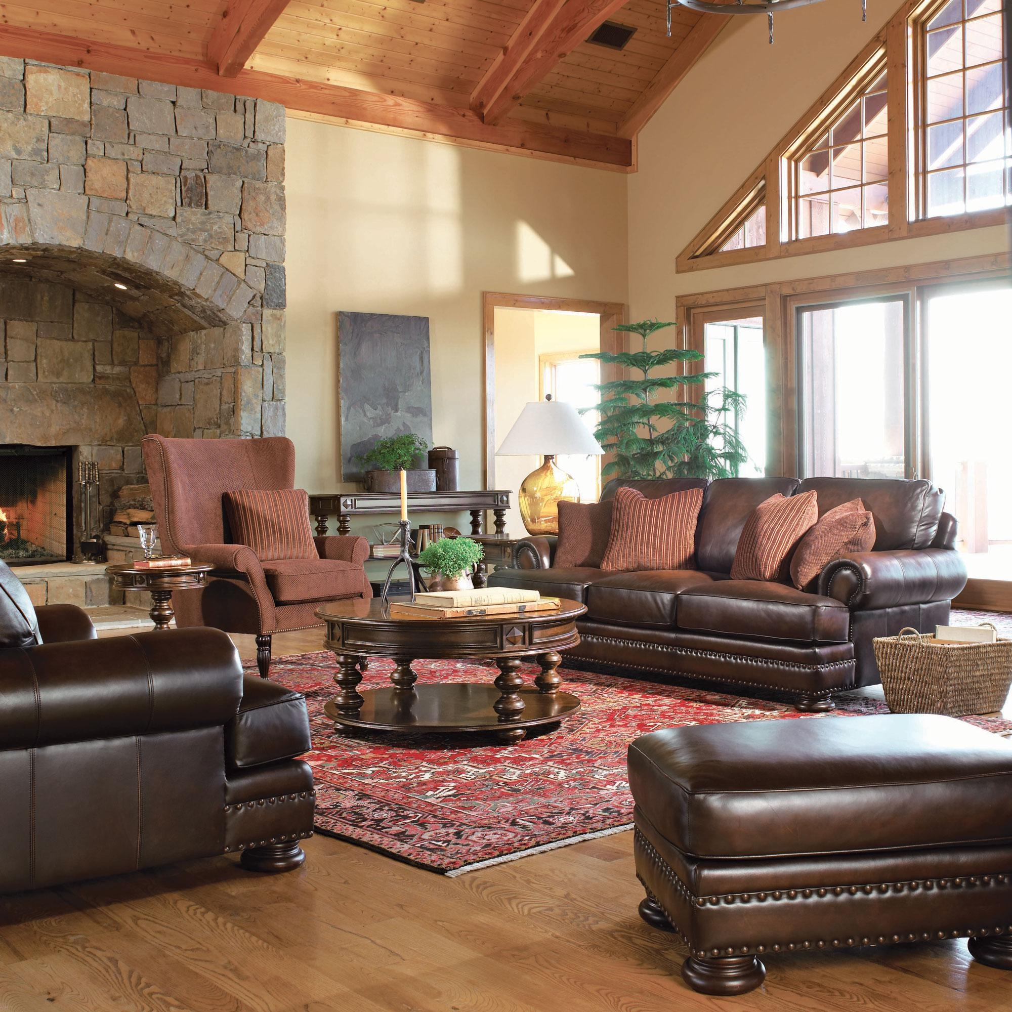Foster Living Room | Bernhardt Within Foster Leather Sofas (Image 13 of 20)
