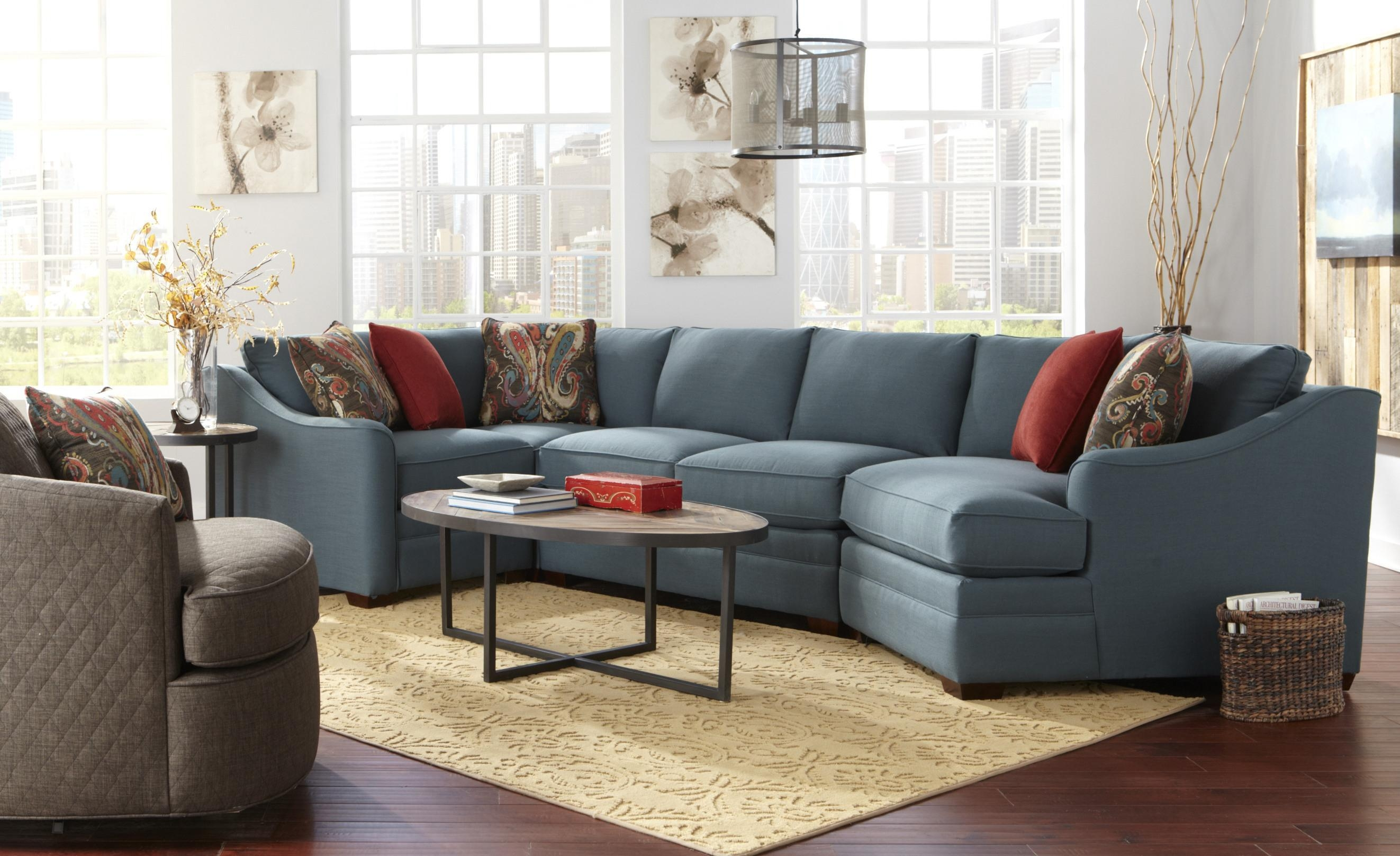 Four Piece <B>Customizable</b> Sectional Sofa With Raf Cuddler Regarding Cuddler Sectional Sofa (Image 8 of 15)