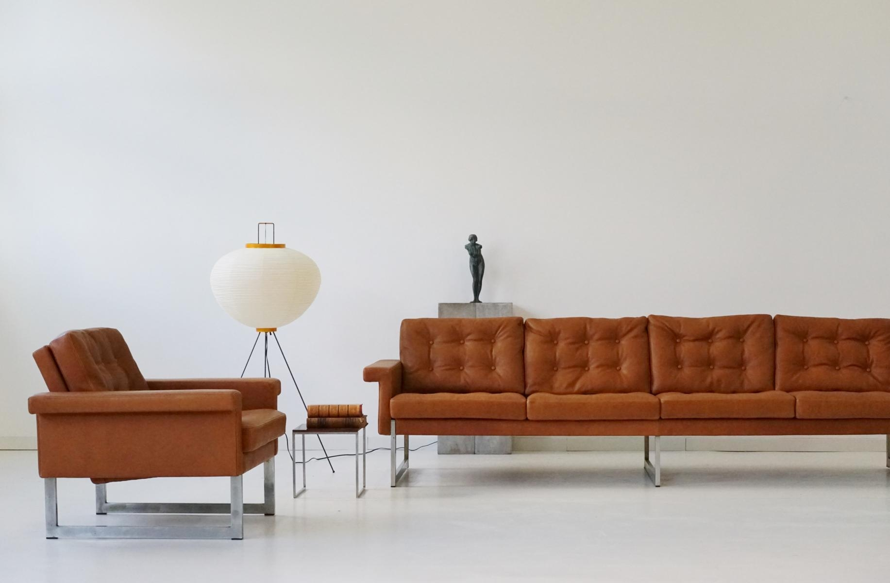 Four Seater Sofa & Lounge Chairs From Kill International, 1967 For Within Four Seat Sofas (View 14 of 20)