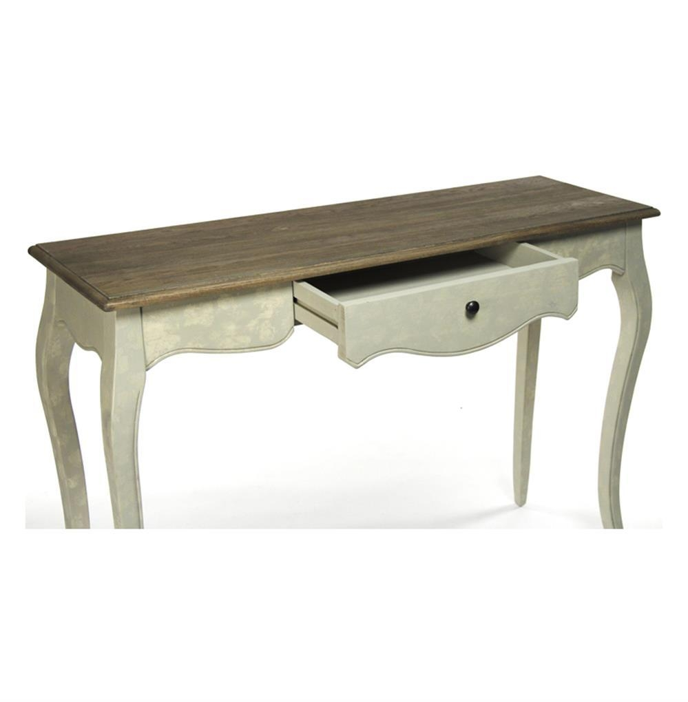 French Country Rochelle Narrow Curved Leg Console Table | Kathy Regarding Country Sofa Tables (Image 13 of 20)