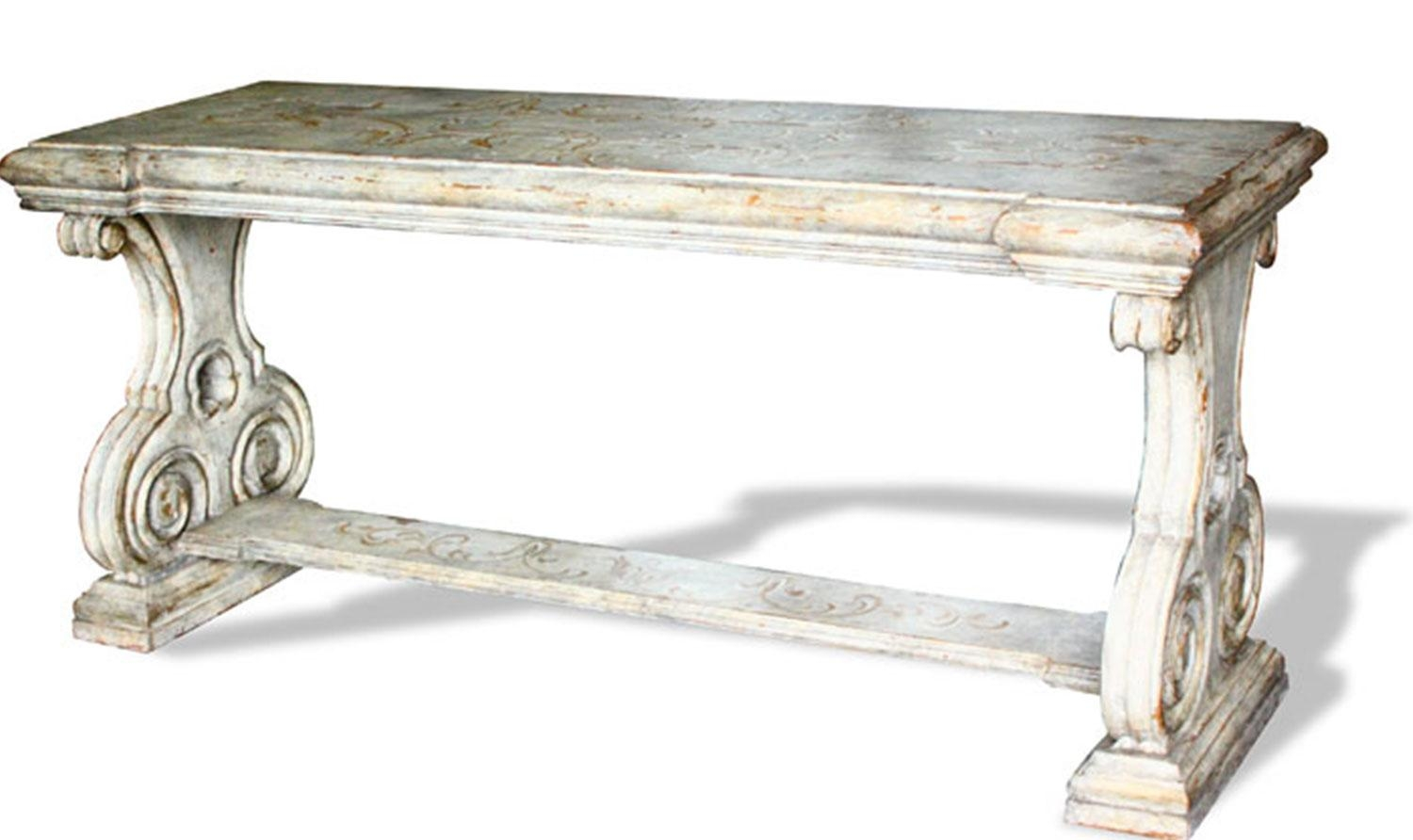 French Country Sofa Table Romana | The Koenig Collection – Unique Regarding Country Sofa Tables (Image 14 of 20)