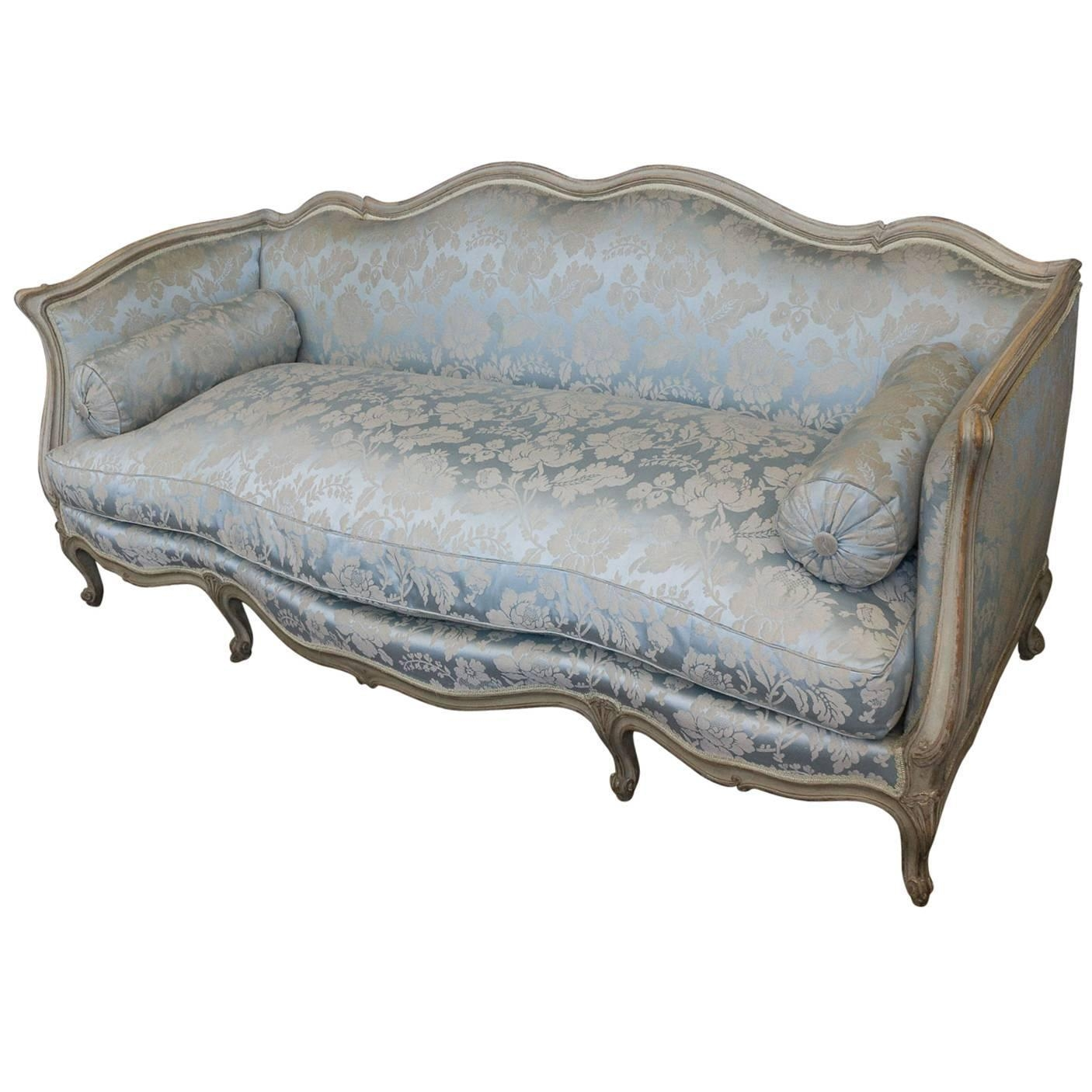 French Louis Xv Style Sofa For Sale At 1Stdibs With French Style Sofa (Image 6 of 20)