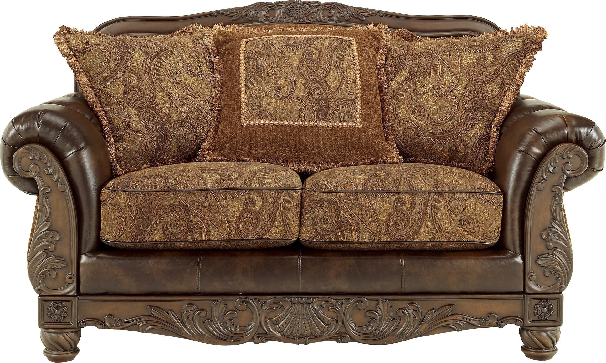 Fresco Durablend – Antique Loveseatashley Furniture Regarding Antique Sofa Chairs (Image 11 of 20)