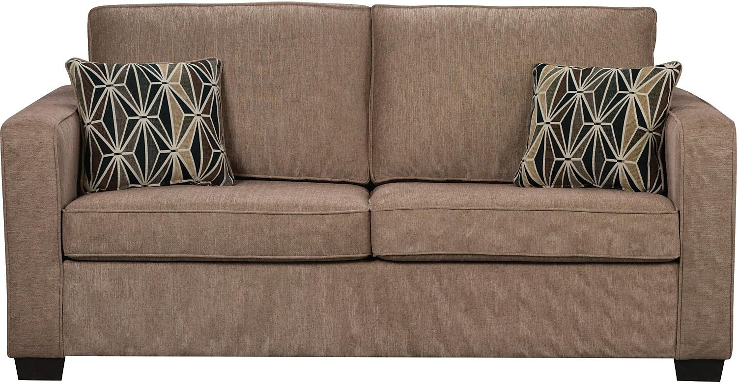 Freya Chenille Full Size Sofa Bed – Oak | The Brick Within Full Size Sofa Beds (Image 2 of 20)