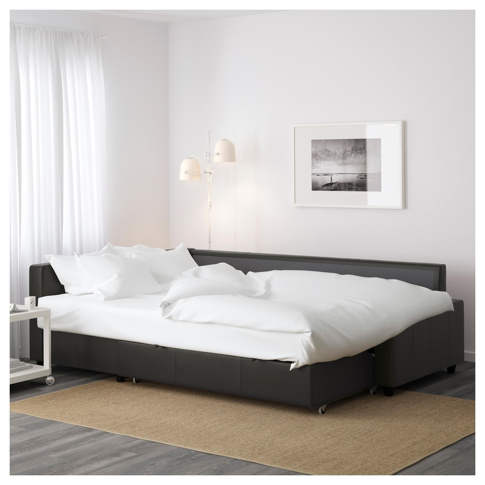 Friheten Corner Sofa Bed With Storage – Bomstad Black – Ikea Intended For Ikea Corner Sofa Bed With Storage (Image 1 of 20)