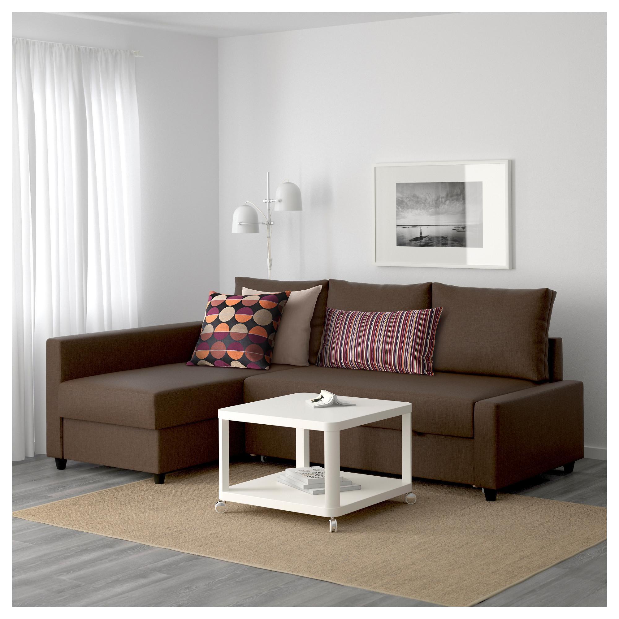 Friheten Corner Sofa Bed With Storage Skiftebo Brown – Ikea With Regard To Storage Sofa Ikea (Image 5 of 20)