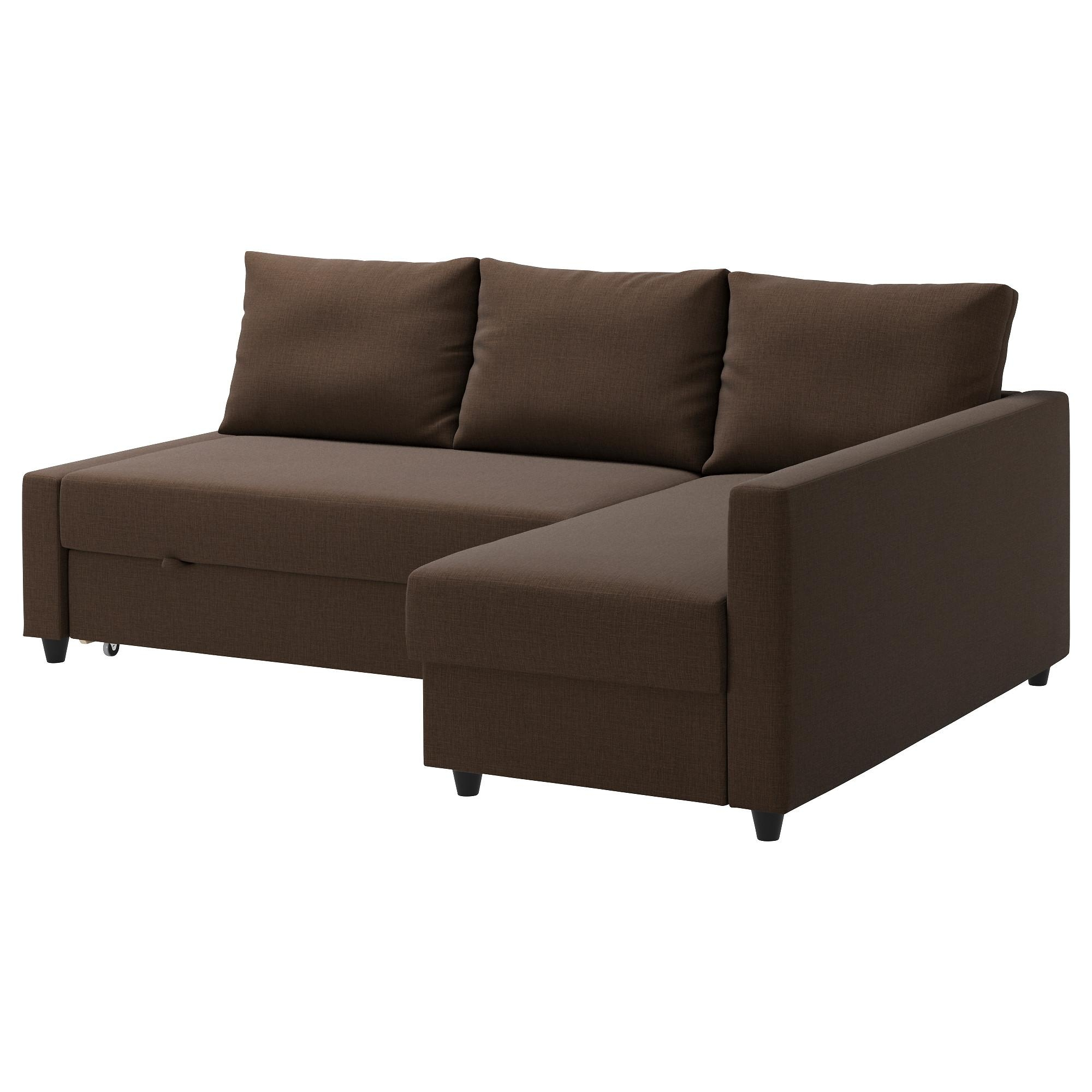 Friheten Corner Sofa Bed With Storage Skiftebo Brown – Ikea With Regard To Storage Sofas Ikea (View 6 of 20)