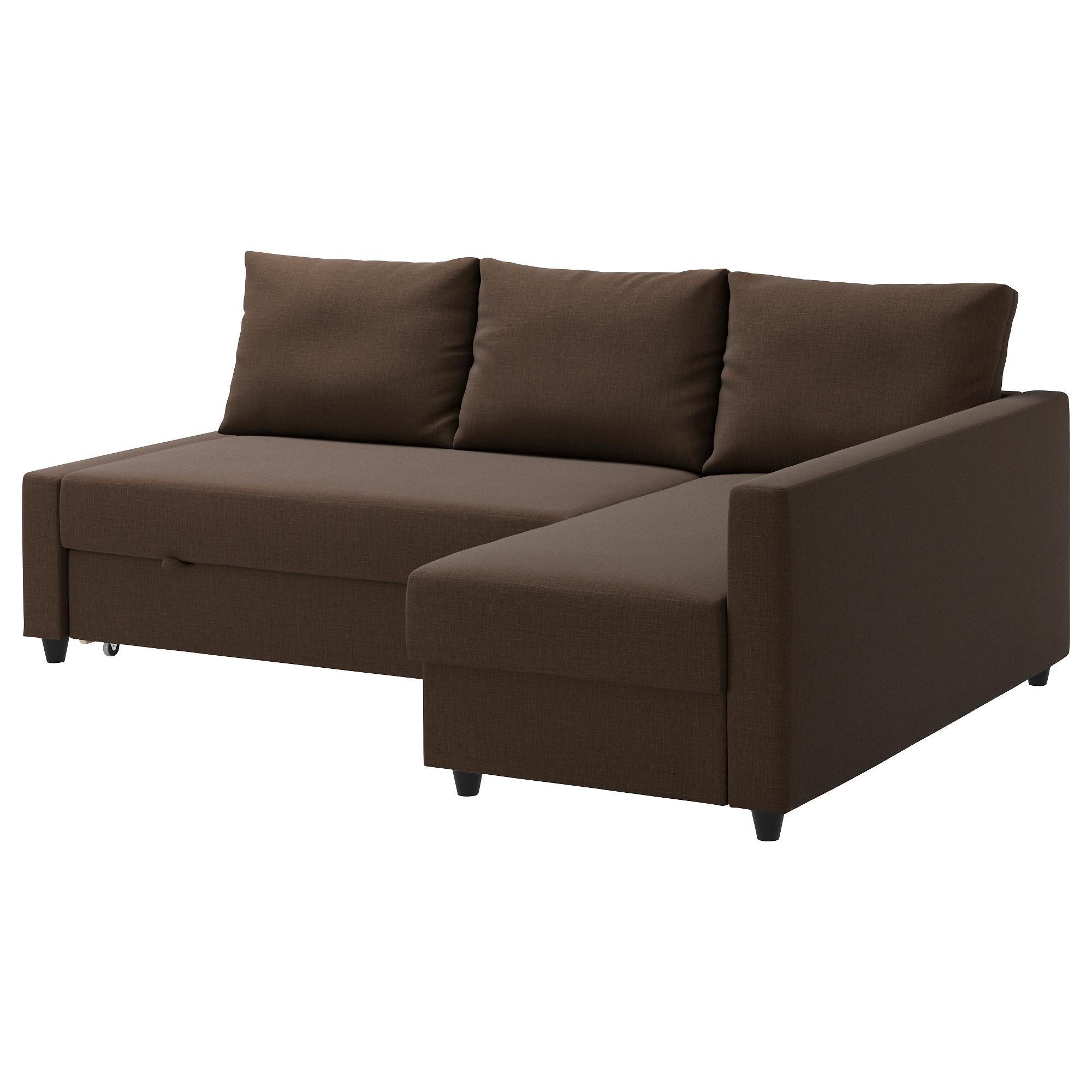 Friheten Corner Sofa Bed With Storage Skiftebo Brown – Ikea With Regard To Storage Sofas Ikea (View 6 of 20)