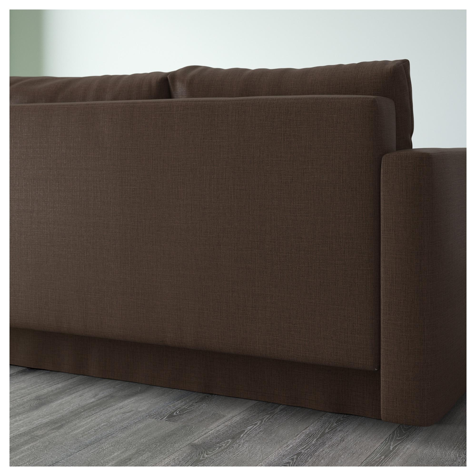 Friheten Corner Sofa Bed With Storage Skiftebo Brown – Ikea With Storage Sofas Ikea (Image 9 of 20)