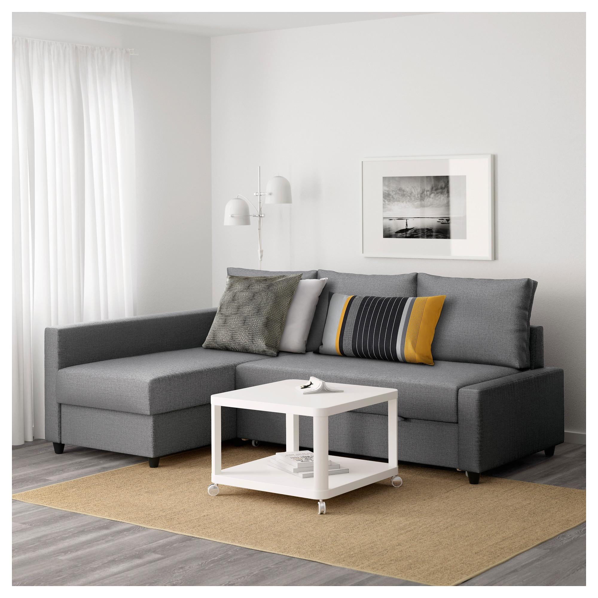 Friheten Corner Sofa Bed With Storage Skiftebo Dark Grey – Ikea In Ikea Sofa Storage (View 3 of 20)