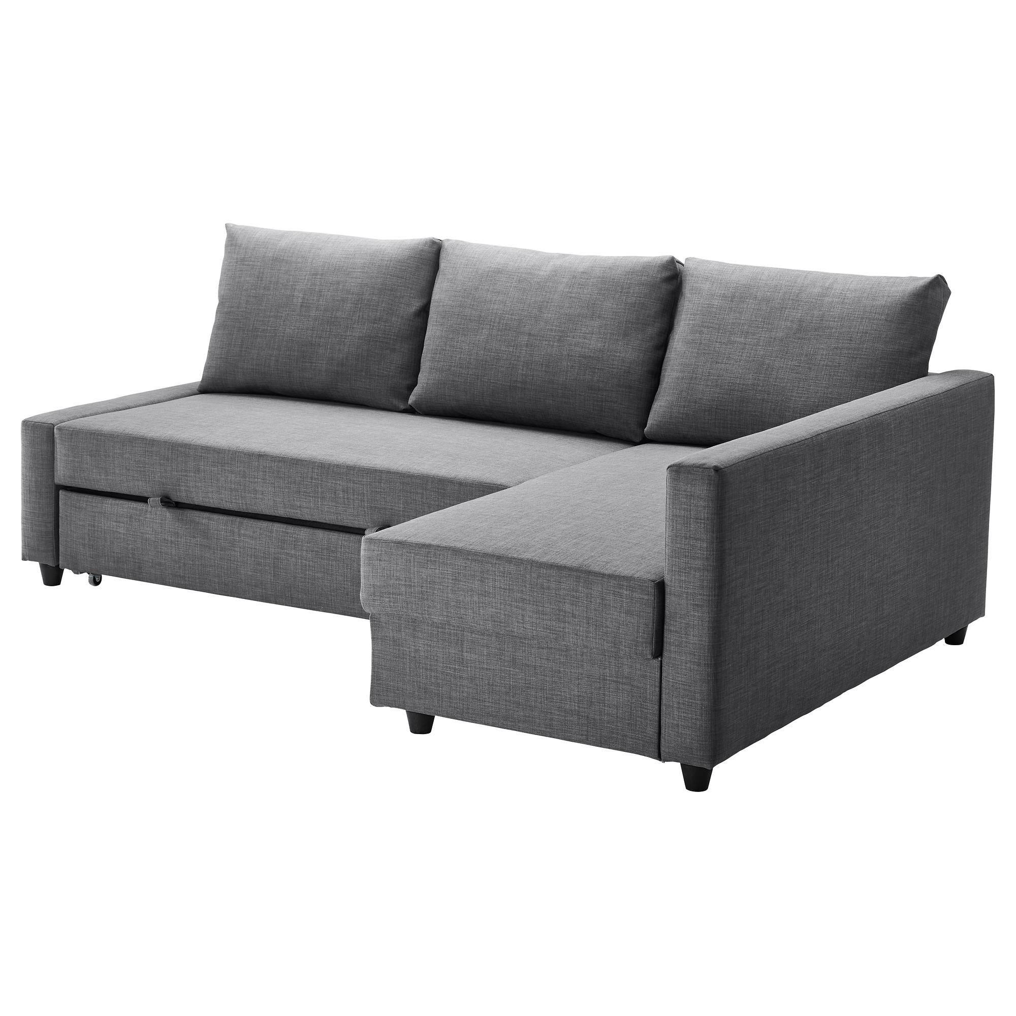 Friheten Corner Sofa Bed With Storage – Skiftebo Dark Grey – Ikea Regarding Ikea Storage Sofa Bed (Image 4 of 20)