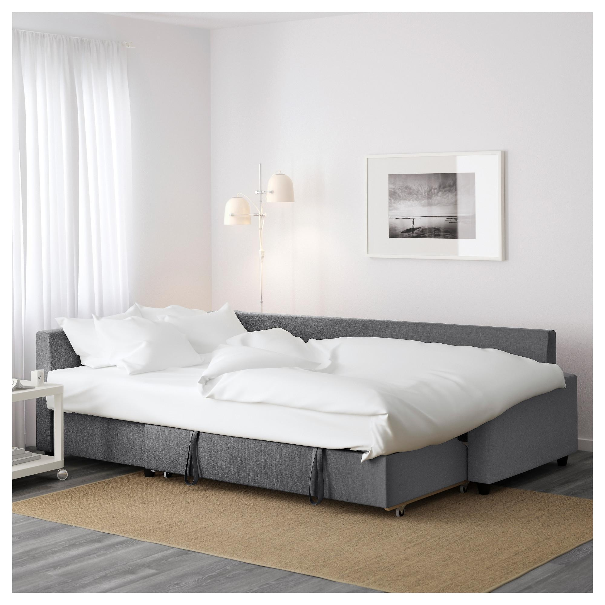 Friheten Corner Sofa Bed With Storage Skiftebo Dark Grey – Ikea Within Storage Sofas Ikea (Image 14 of 20)