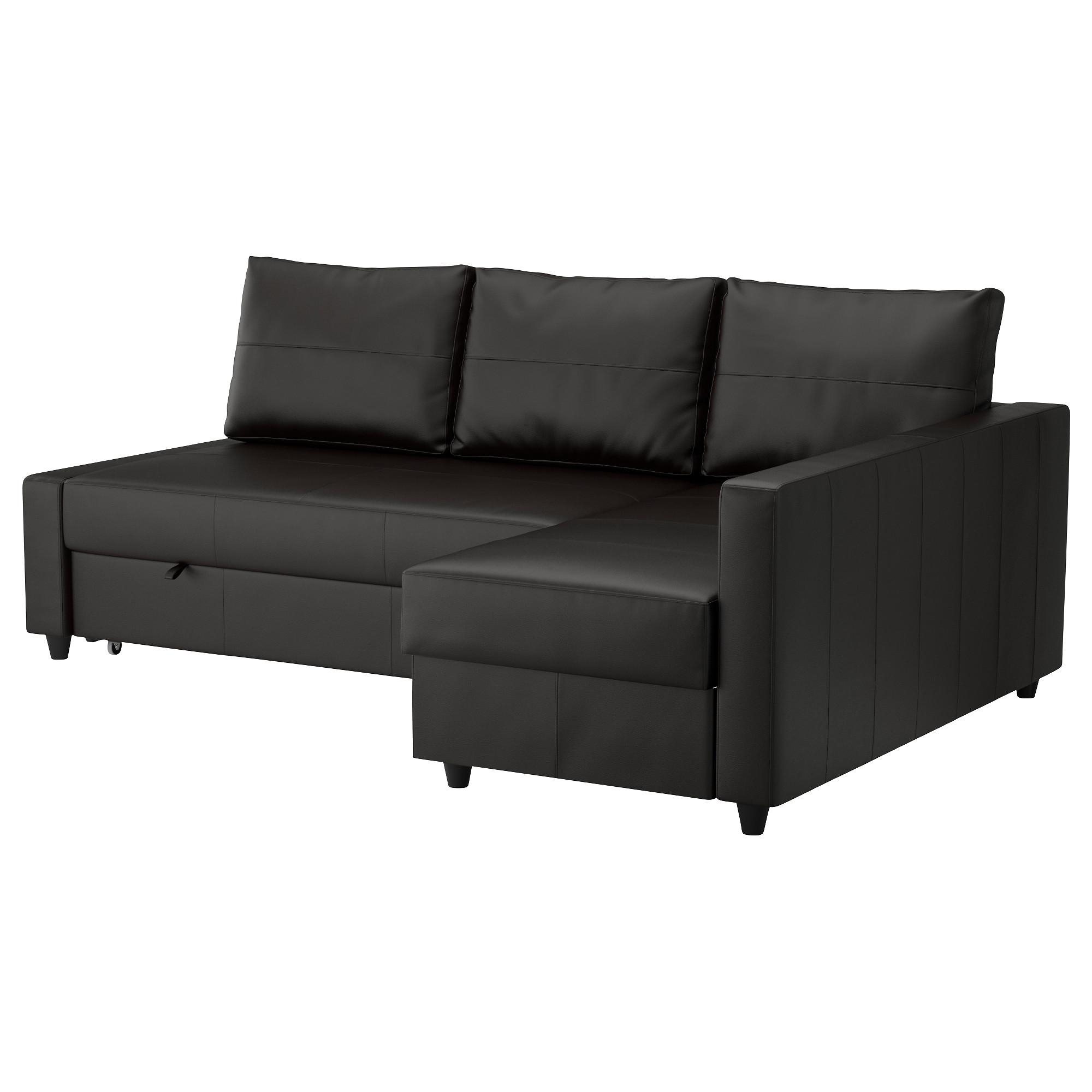 Friheten Sleeper Sectional,3 Seat W/storage – Bomstad Black – Ikea With Regard To Ikea Storage Sofa Bed (View 9 of 20)